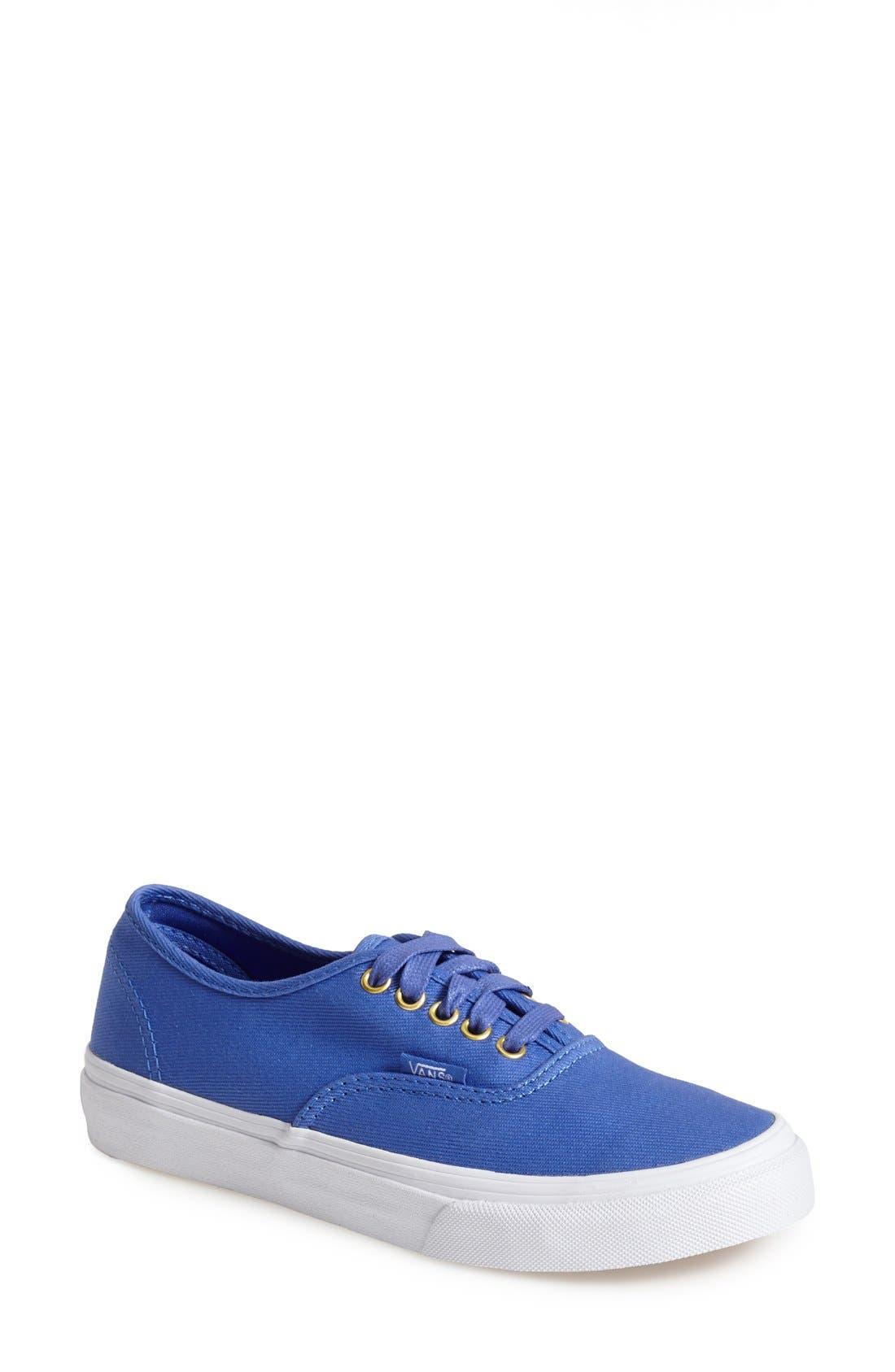 Alternate Image 1 Selected - Vans 'Authentic Slim' Twill Sneaker (Women)