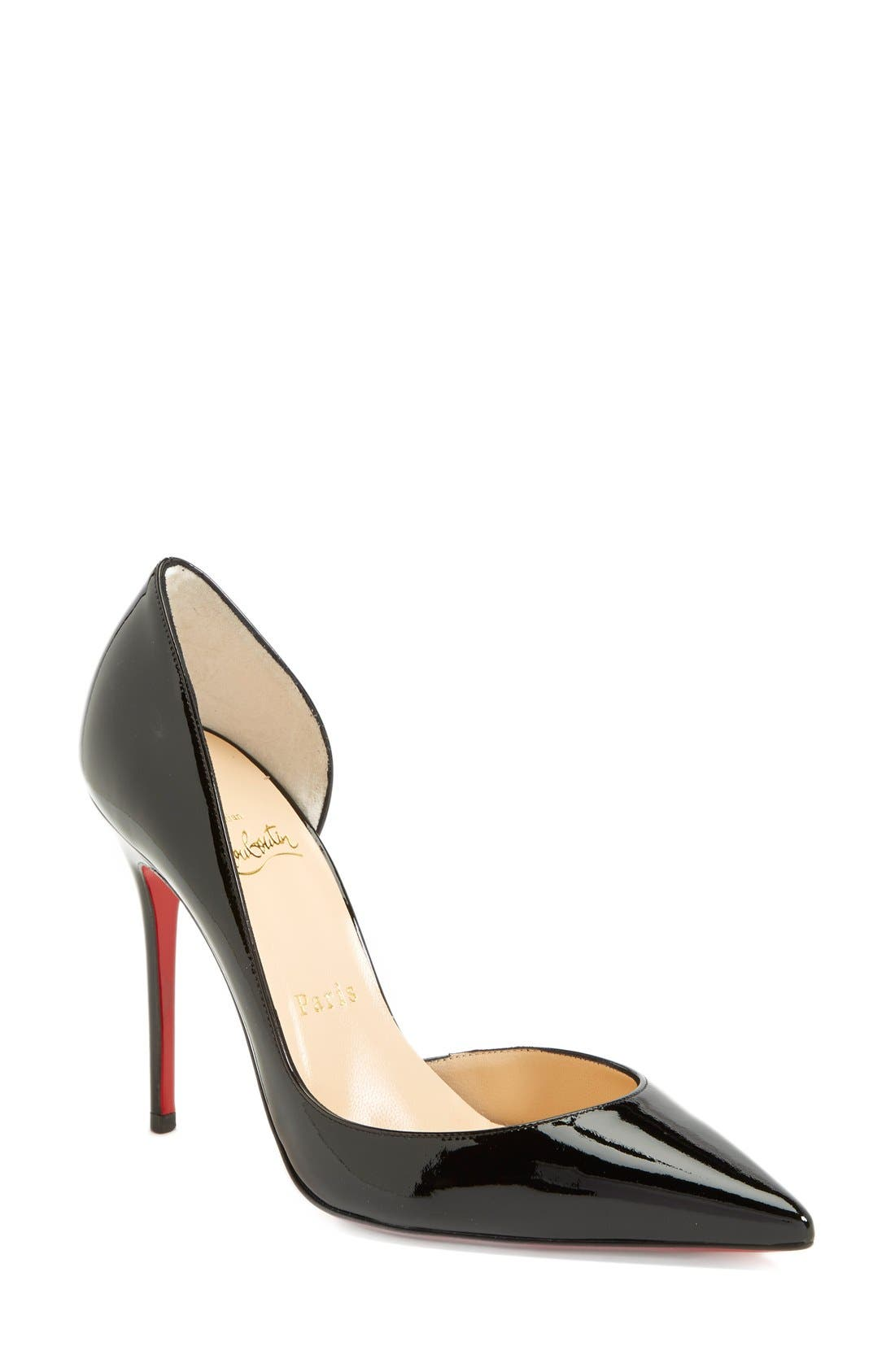 Alternate Image 1 Selected - Christian Louboutin 'Iriza' Pointy Toe Half d'Orsay Pump (Women)
