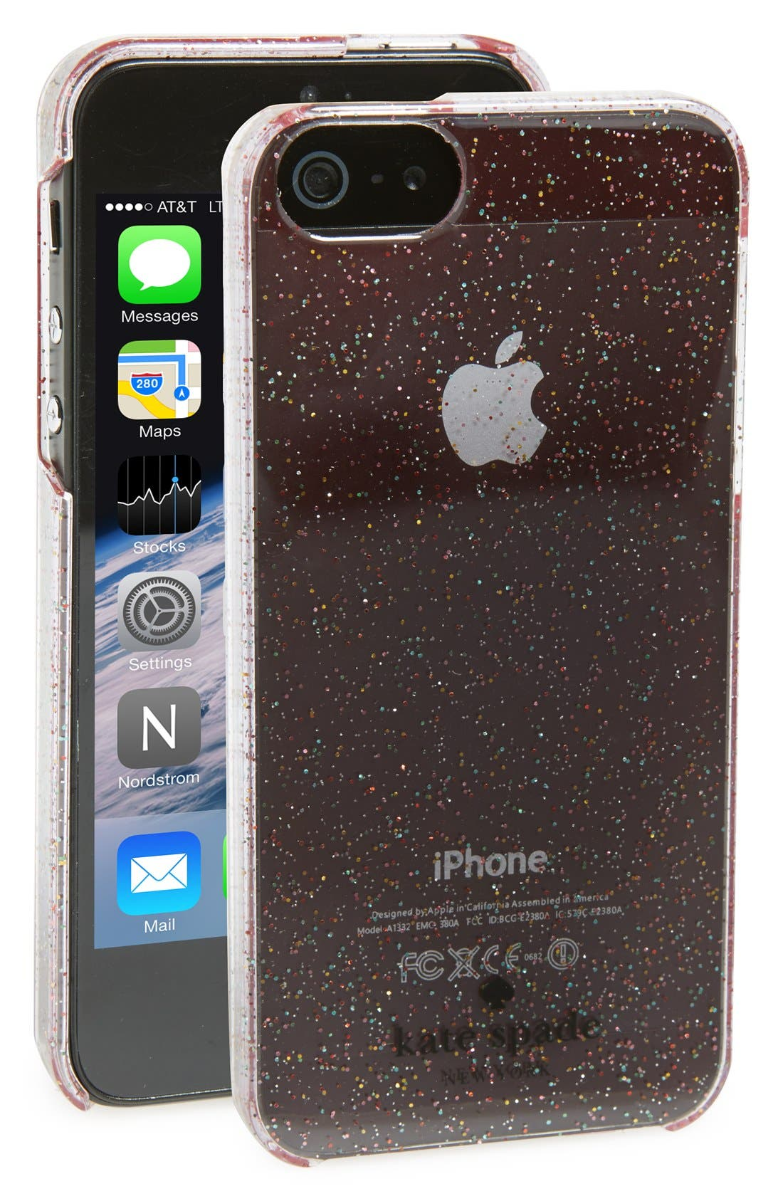 Main Image - kate spade new york 'glitter' iPhone 5 and 5s case