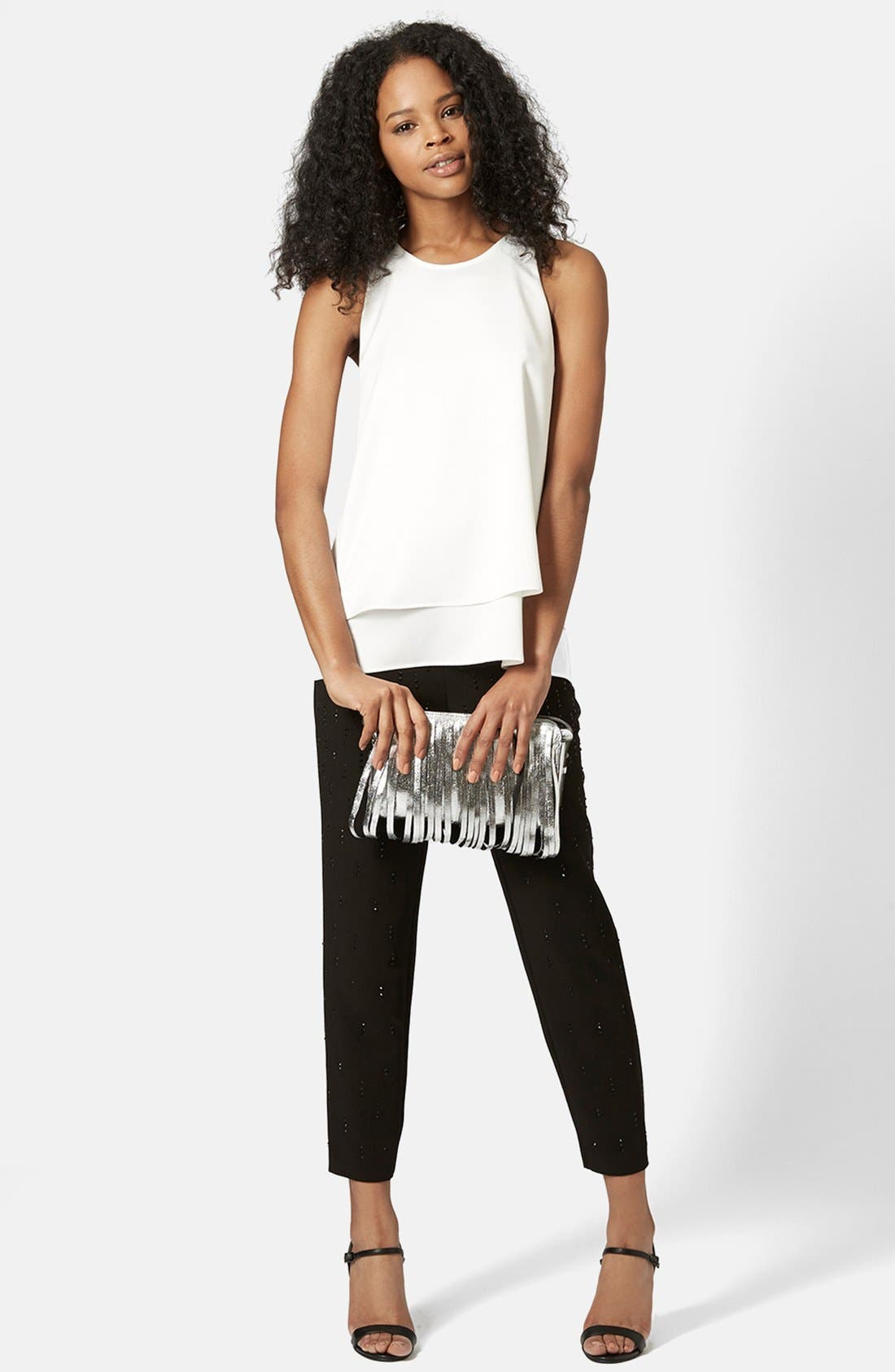 Alternate Image 4  - Topshop 'Nord Lily' Layered Split Back Tank