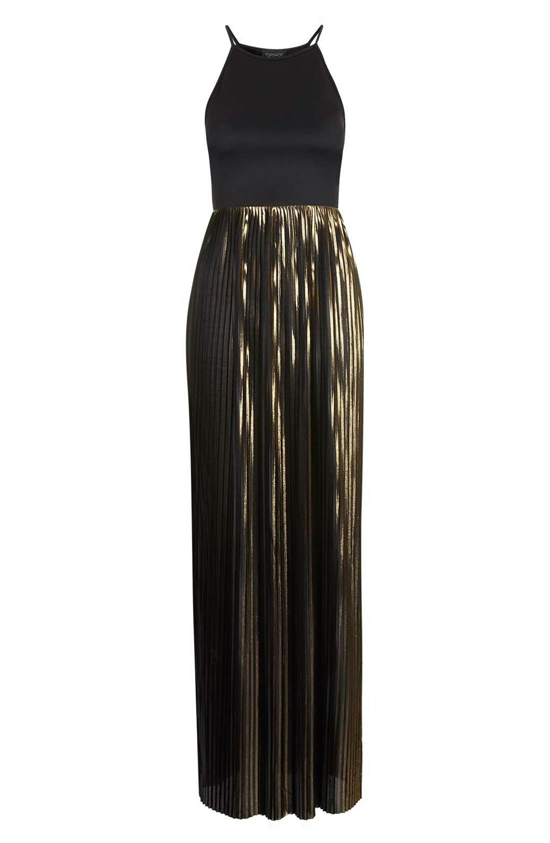Alternate Image 3  - Topshop Strappy Pleated Maxi Dress