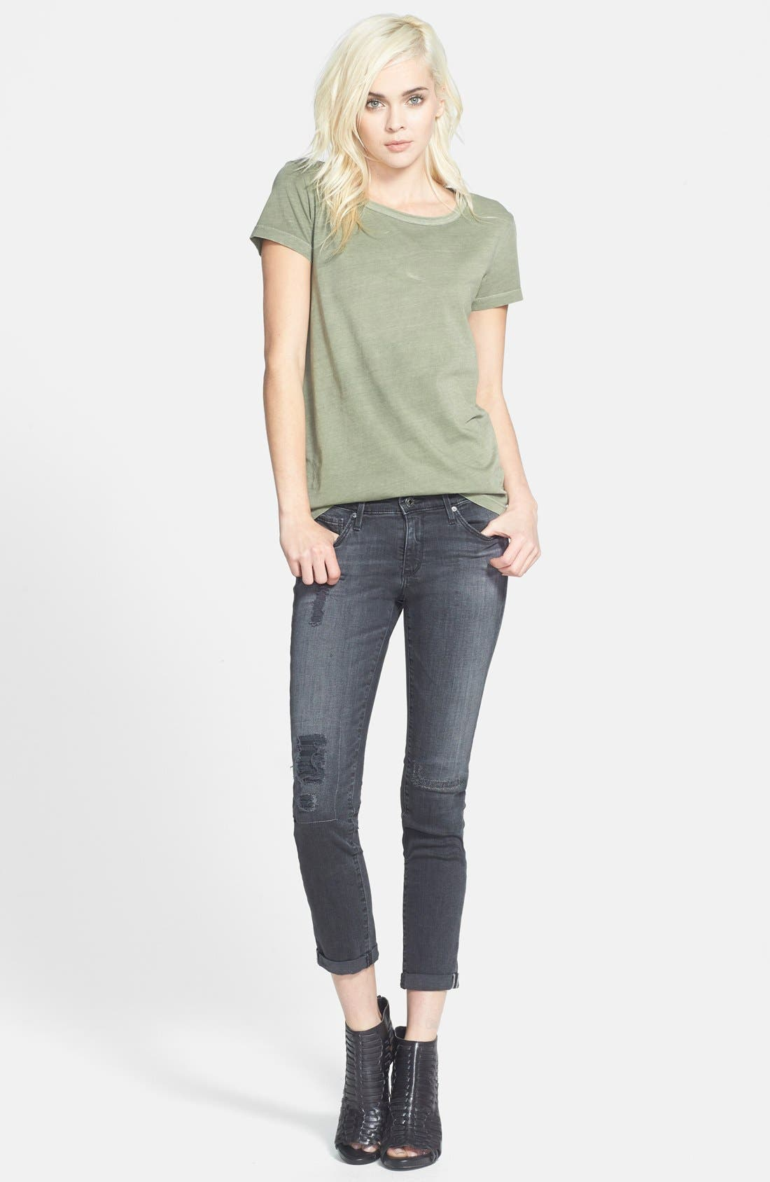 Alternate Image 4  - AG 'The Stilt' Cuffed Cigarette Jeans (Mantra Mended)