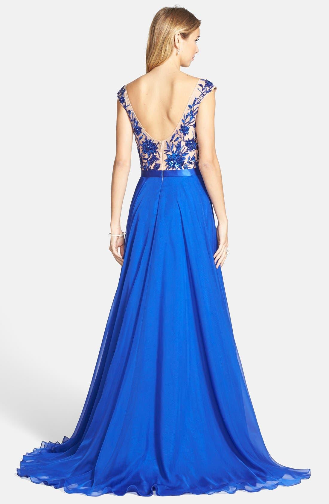 Alternate Image 2  - Sherri Hill Embellished Illusion Gown