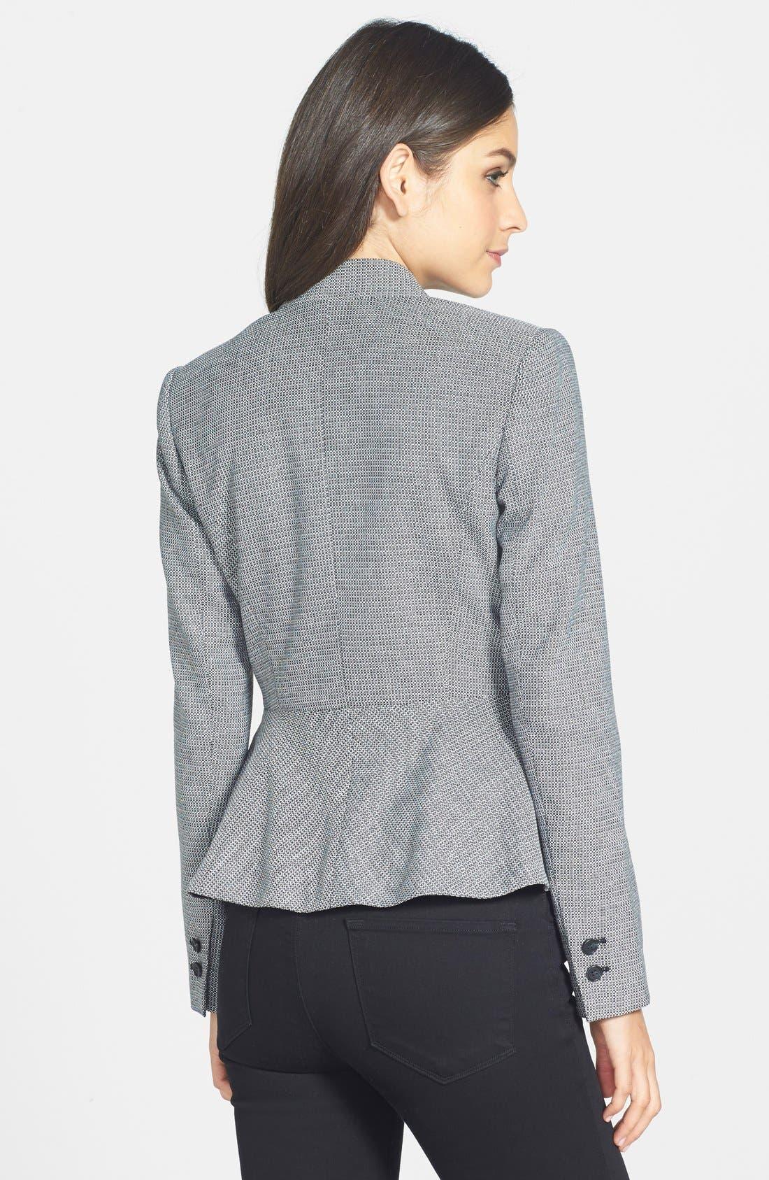Alternate Image 2  - Halogen® One-Button Peplum Jacket (Regular & Petite)