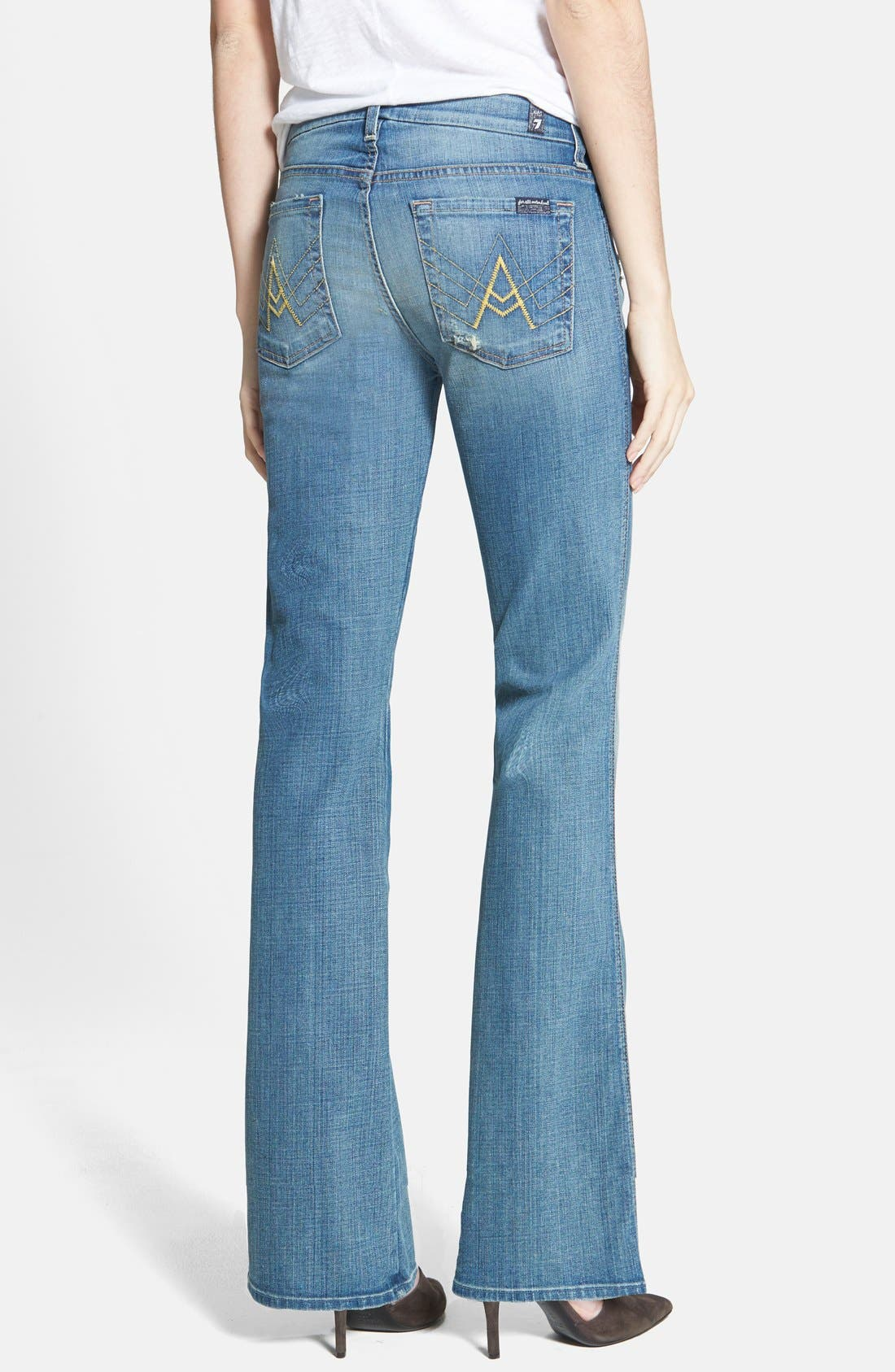 Alternate Image 2  - 7 For All Mankind® 'A Pocket' Bootcut Jeans (Dusty Vintage Blue)