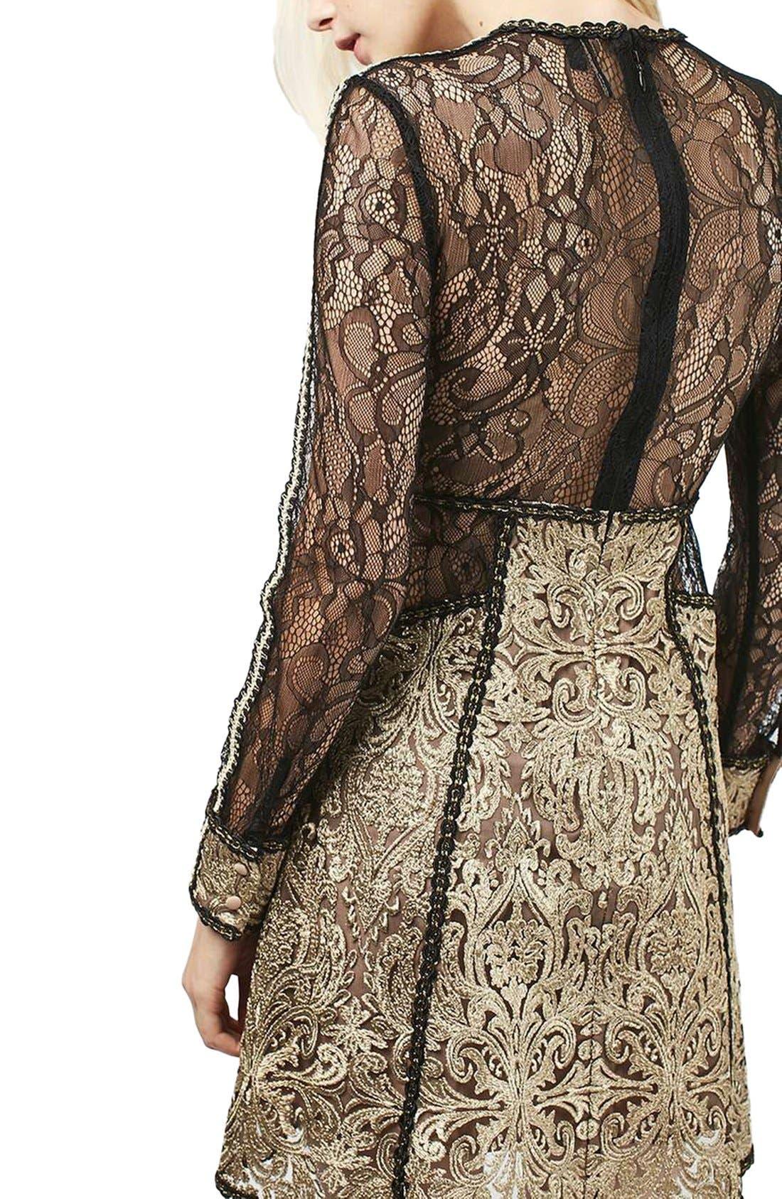 Alternate Image 3  - Topshop Lace A-Line Dress