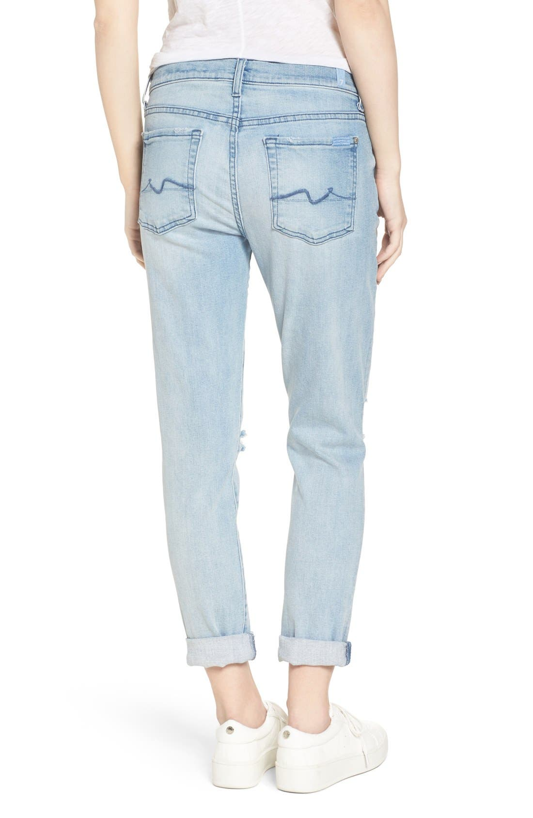 Alternate Image 2  - 7 For All Mankind® 'Josefina' Boyfriend Jeans (Bright Bristol 2)