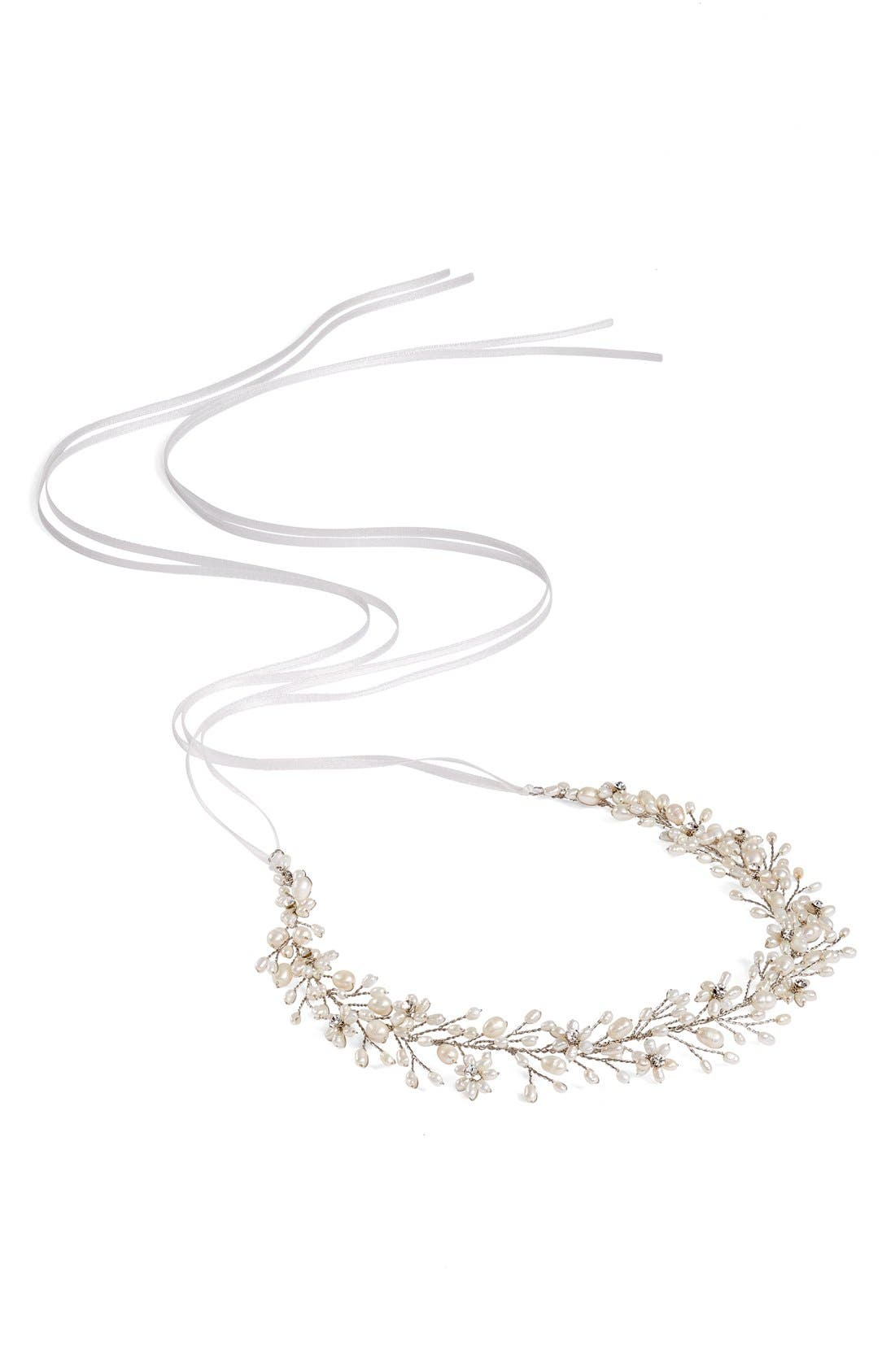 BRIDES & HAIRPINS Ines Pearl & Jeweled Halo