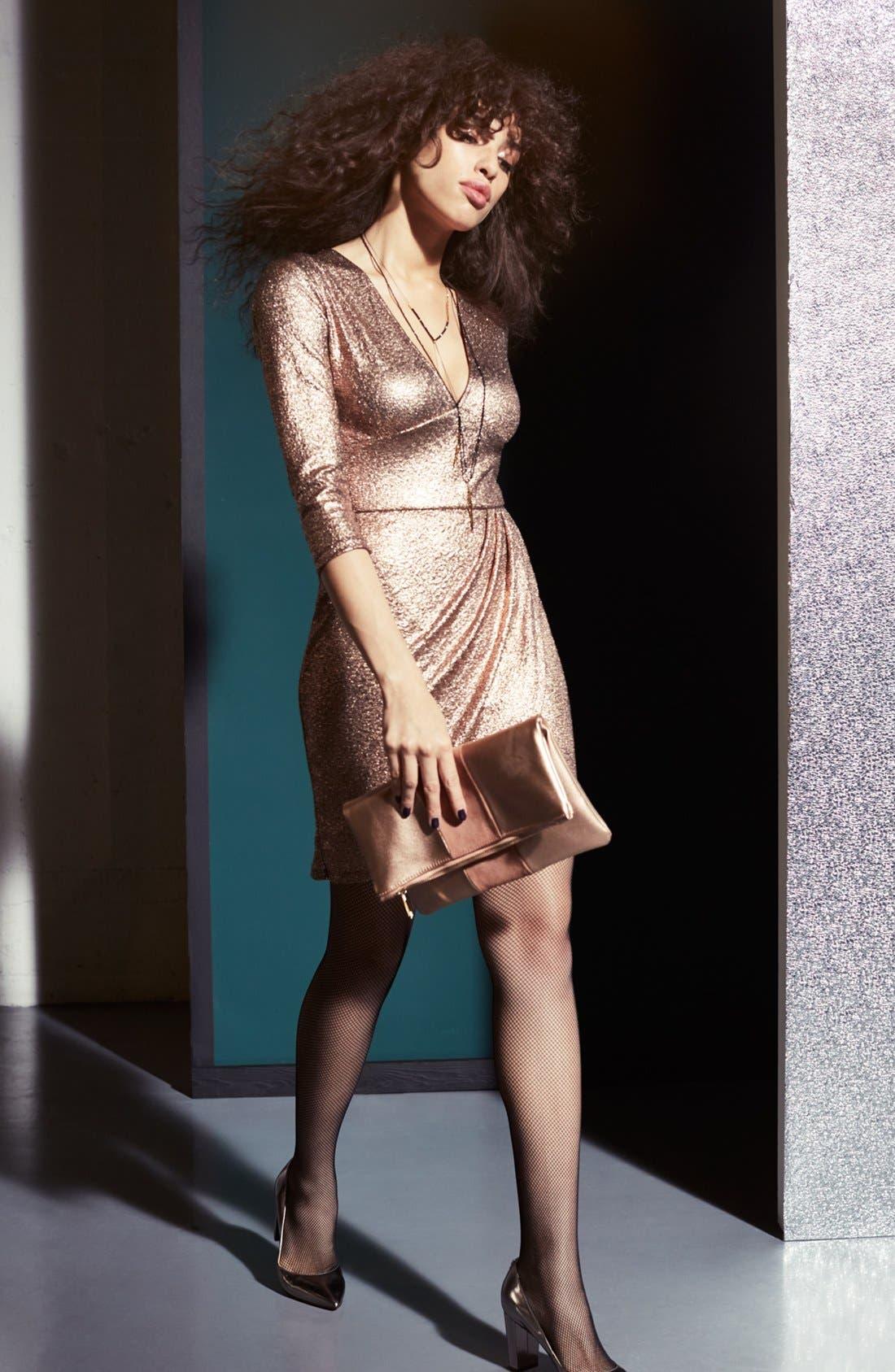Alternate Image 6  - Leith Metallic Body-Con Dress