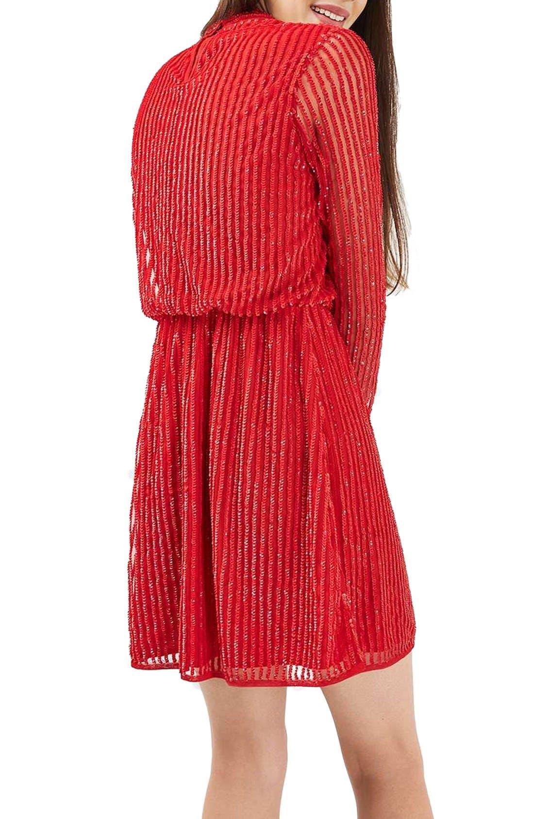 Alternate Image 3  - Topshop Sequin Blouson Dress