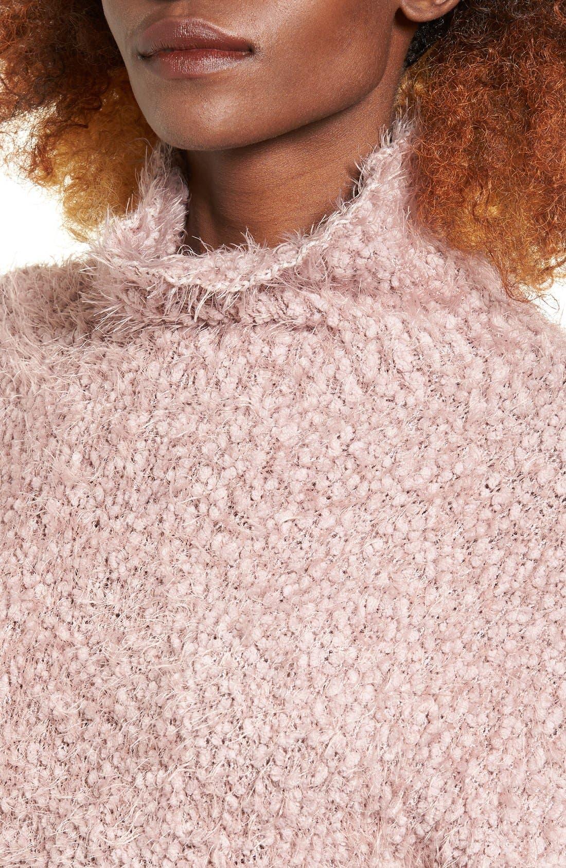 Alternate Image 4  - BP. Fluffy Knit Mock Neck Pullover