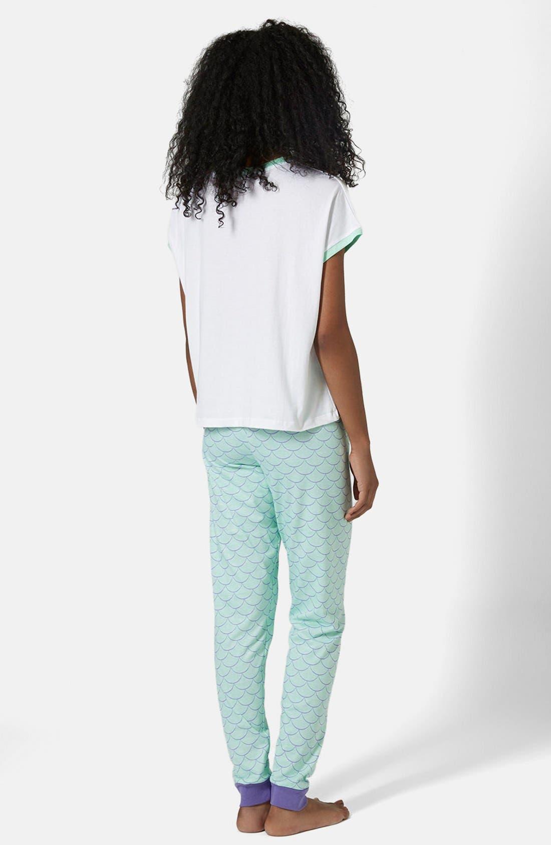Alternate Image 2  - Topshop Little Mermaid Pajama Set