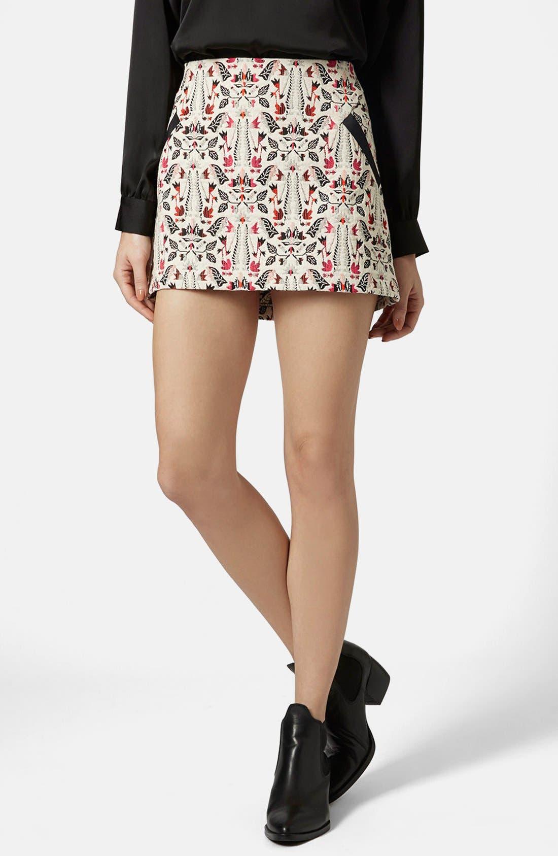 Main Image - Topshop Jacquard Miniskirt