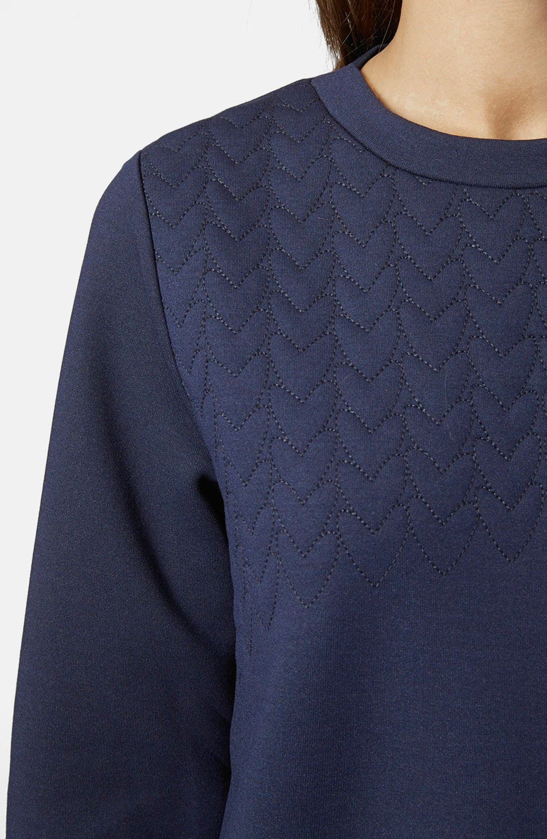 Alternate Image 4  - Topshop Quilted Sweatshirt Dress