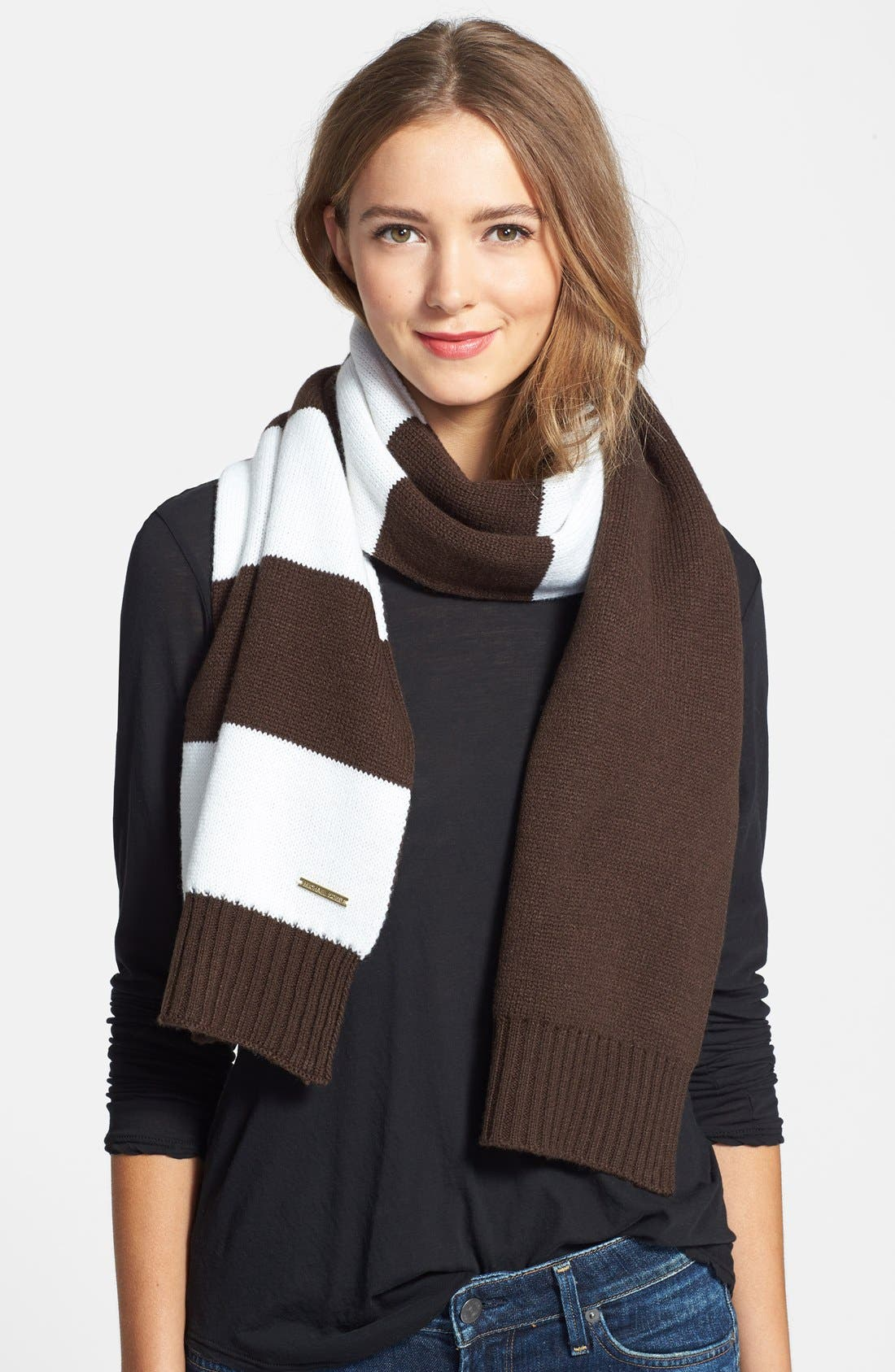 Main Image - MICHAEL Michael Kors Reversible Knit Scarf