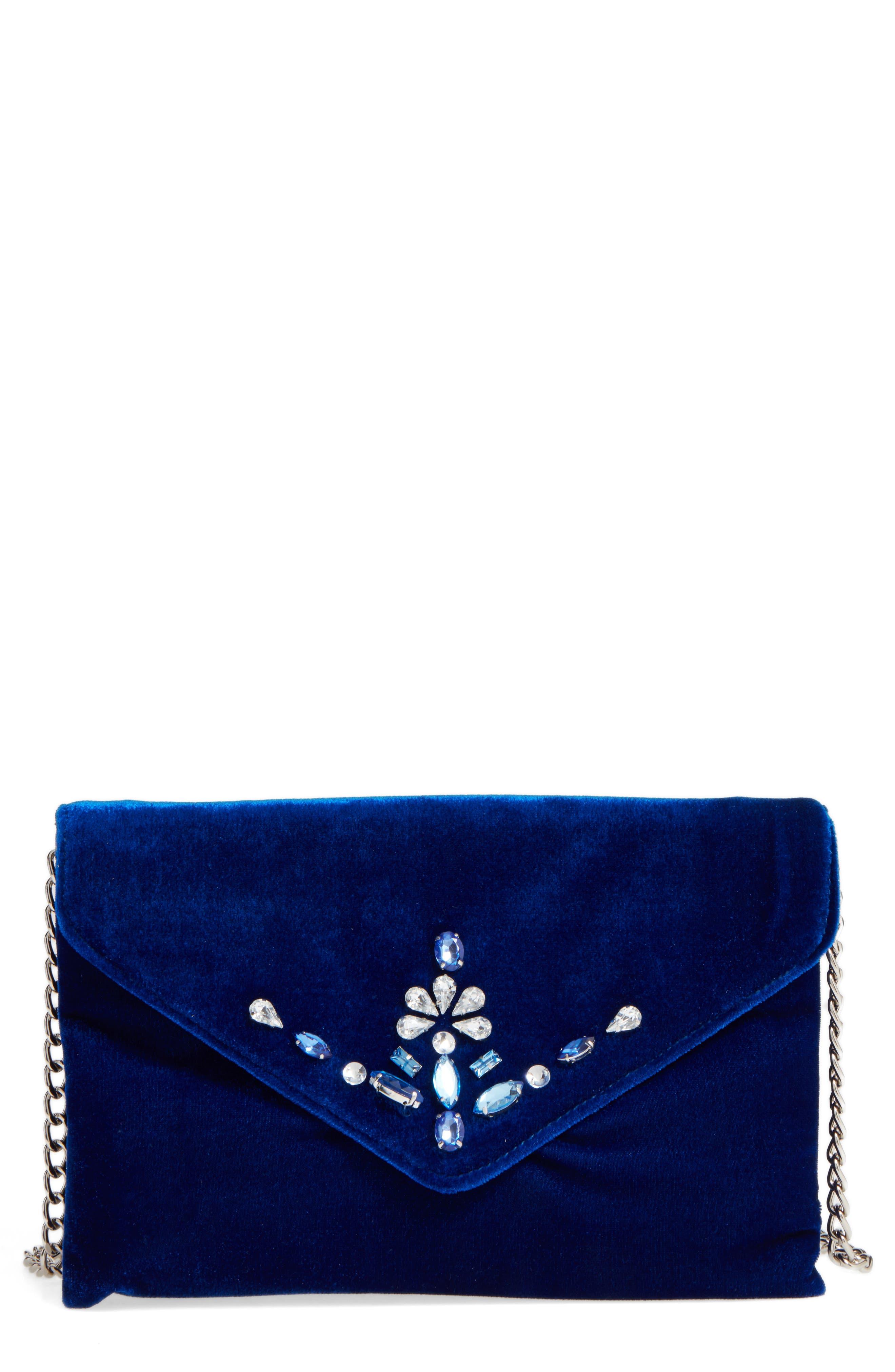 Main Image - BP. Jeweled Flap Clutch