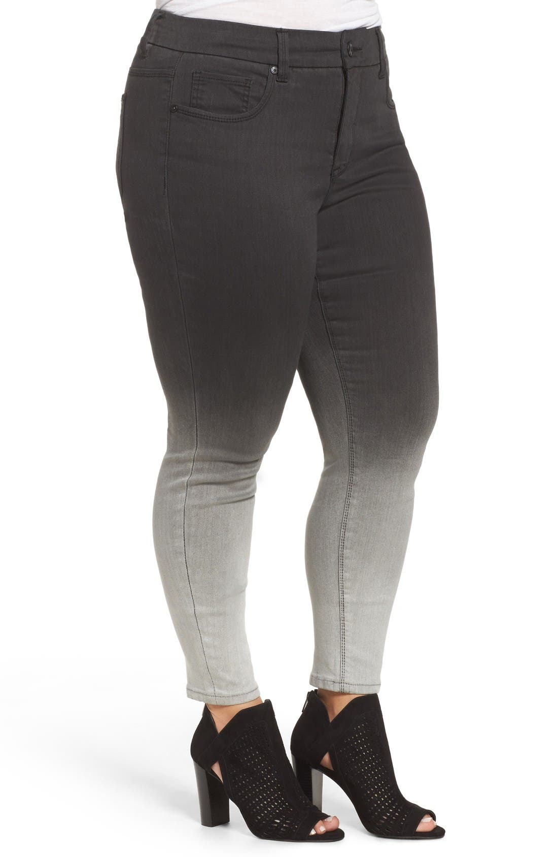Alternate Image 3  - Melissa McCarthy Seven7 Stretch Ombré Pencil Jeans (Dover) (Plus Size)