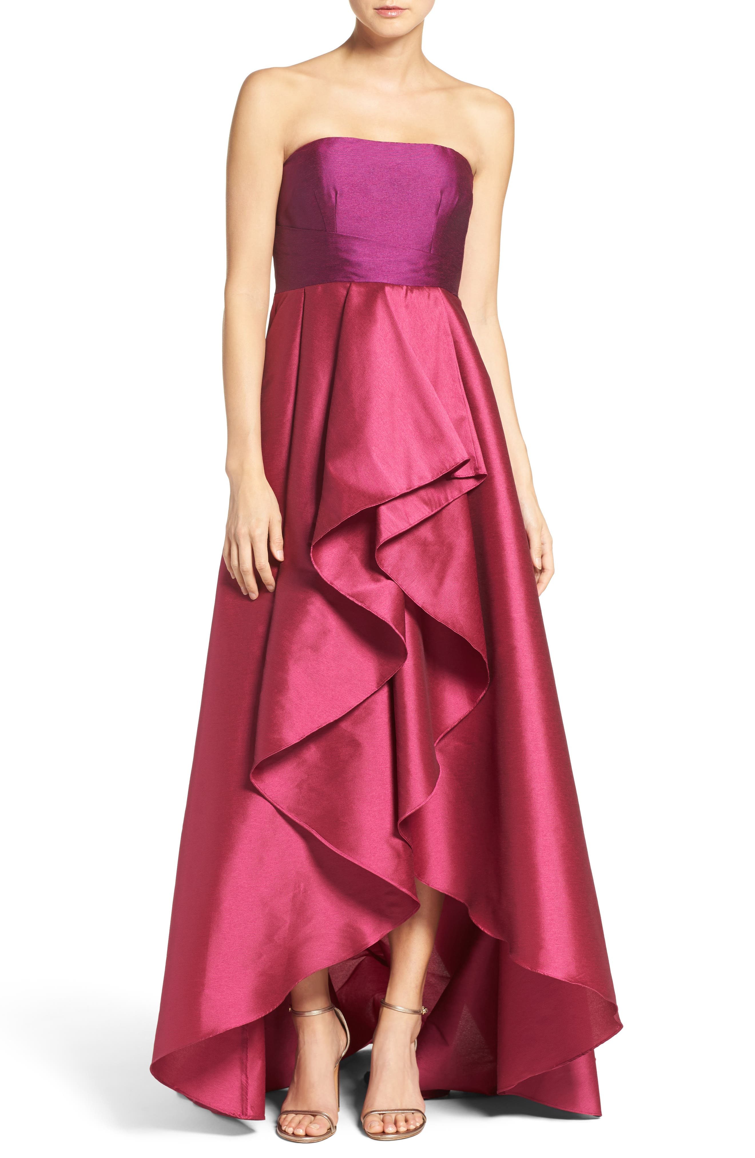Alternate Image 1 Selected - Adrianna Papell Colorblock Strapless Gown
