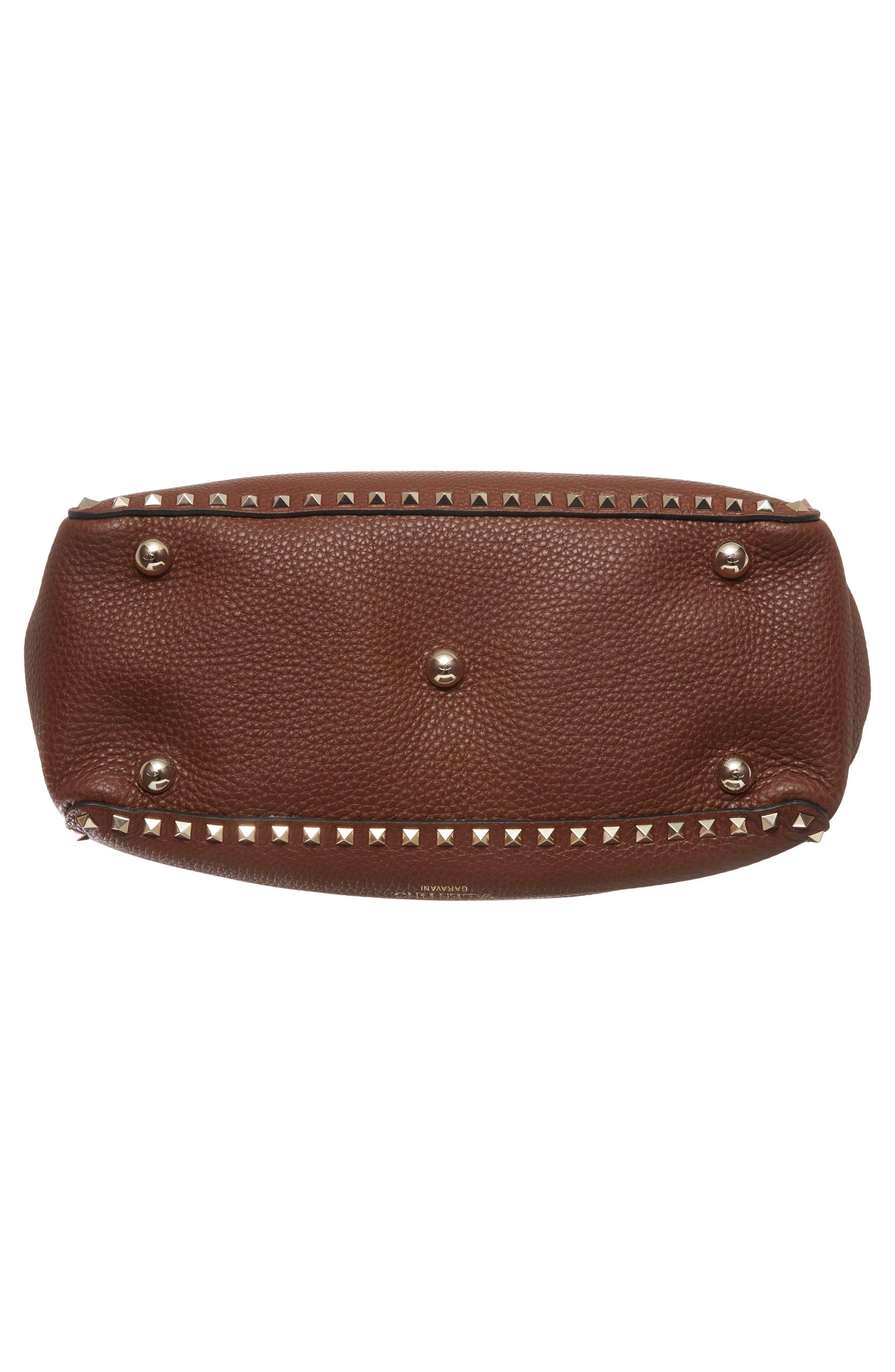 Alternate Image 5  - Valentino 'Rockstud' Grained Calfskin Leather Tote