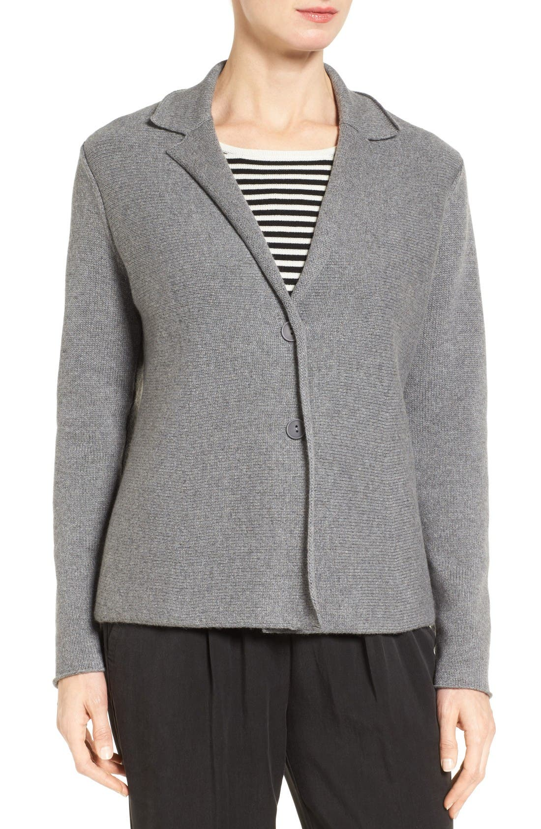 Alternate Image 4  - Eileen Fisher Recycled Cashmere & Merino Wool Sweater Jacket