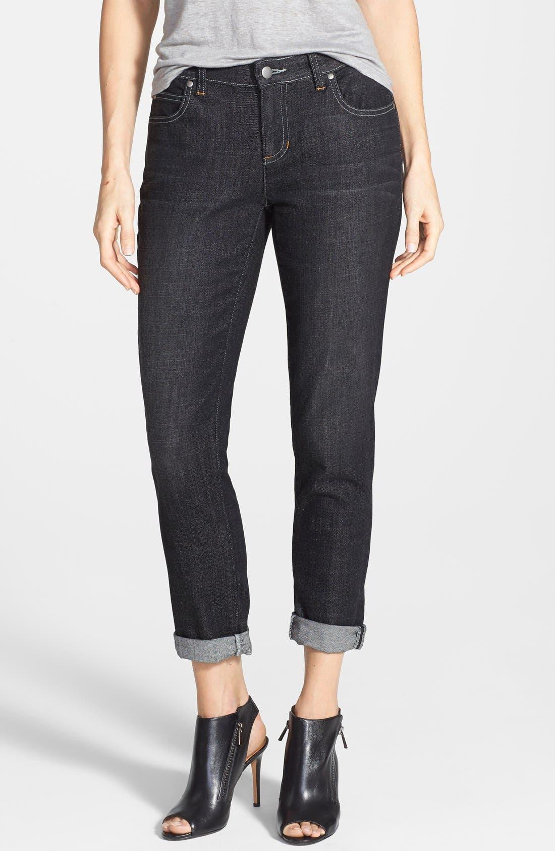 Alternate Image 1 Selected - Eileen Fisher Organic Cotton Boyfriend Jeans (Plus Size)