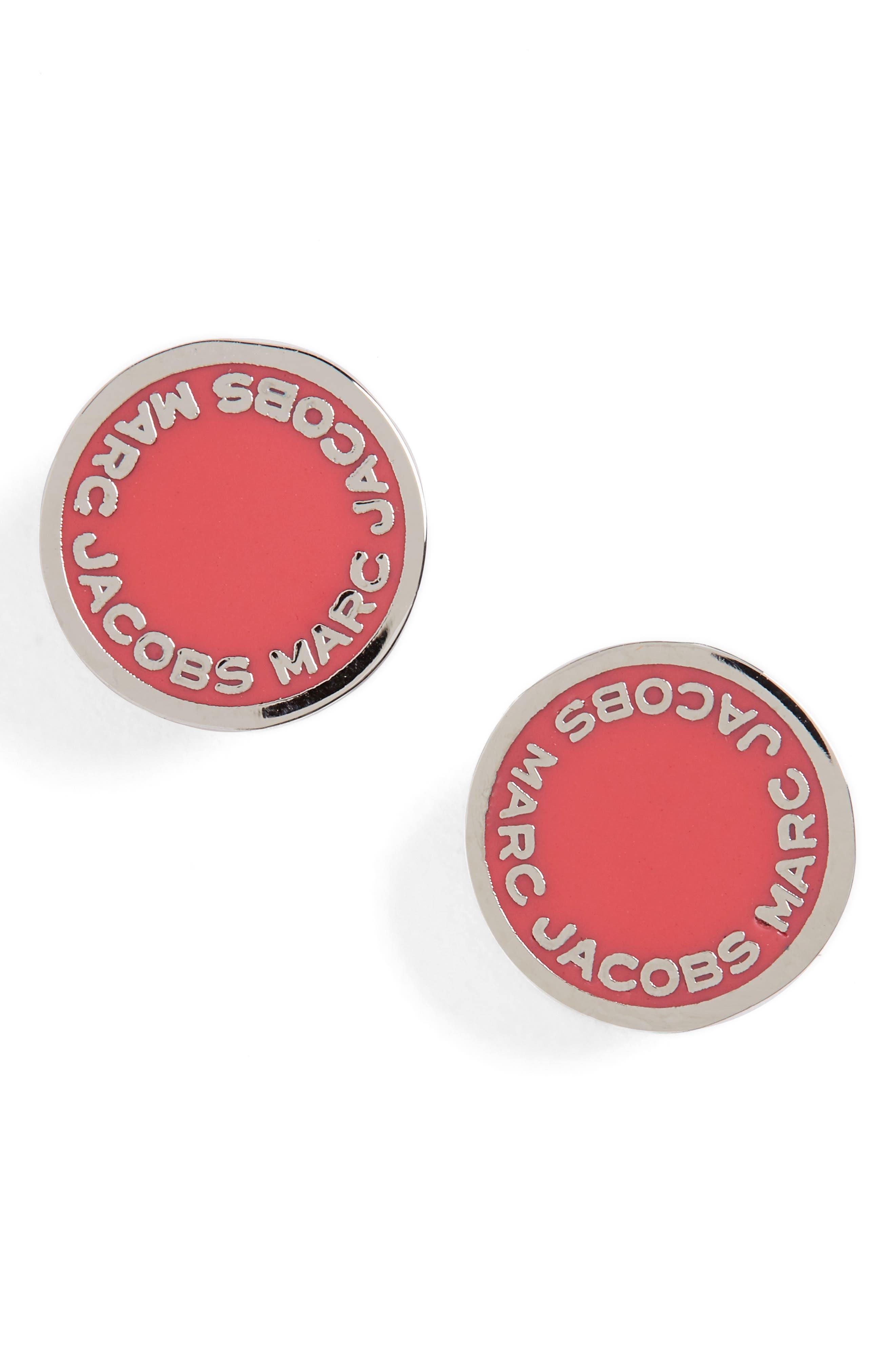 Main Image - MARC JACOBS Logo Disc Stud Earrings