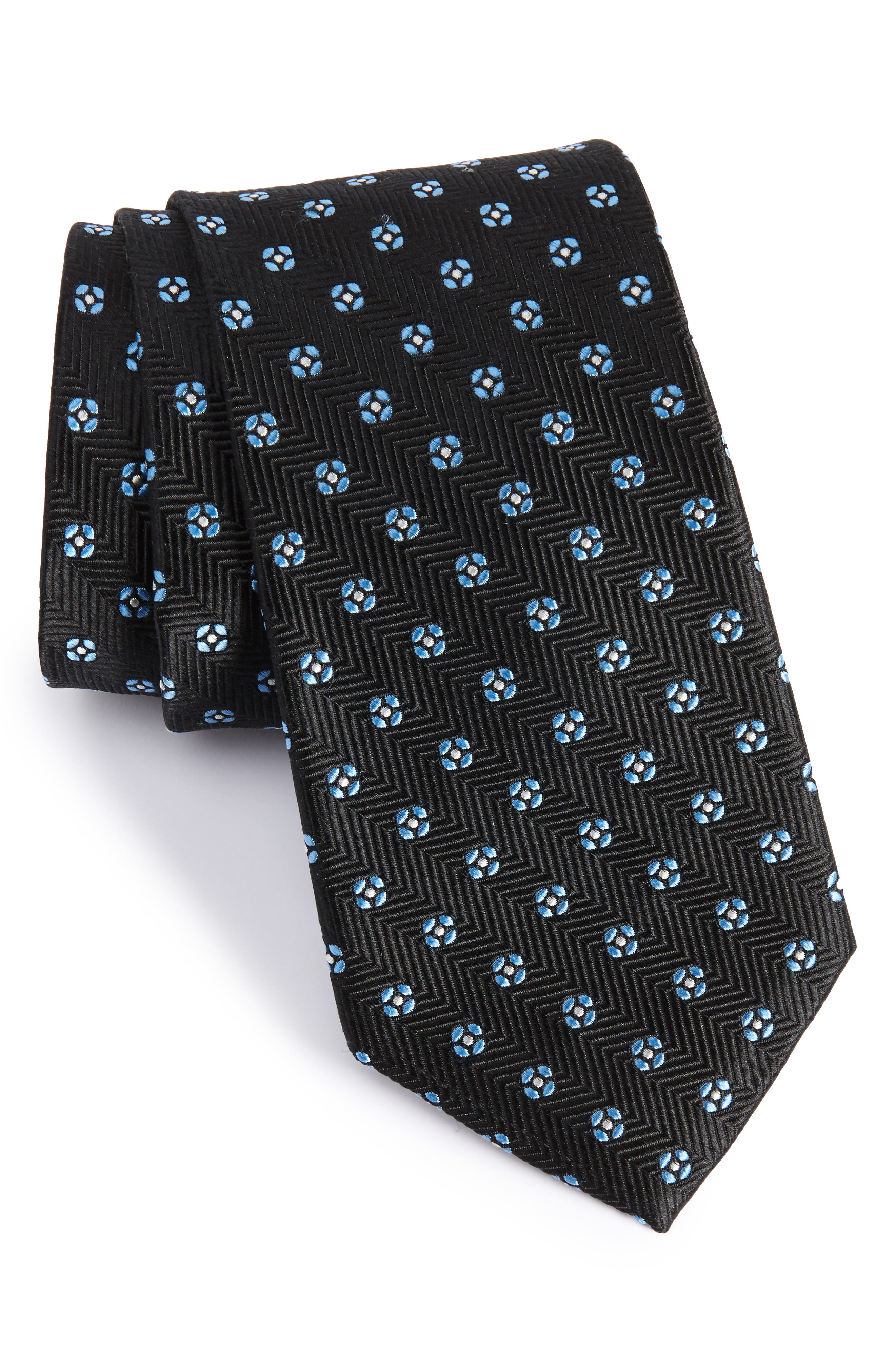 NORDSTROM MEN'S SHOP Harry Neat Medallion Silk Tie