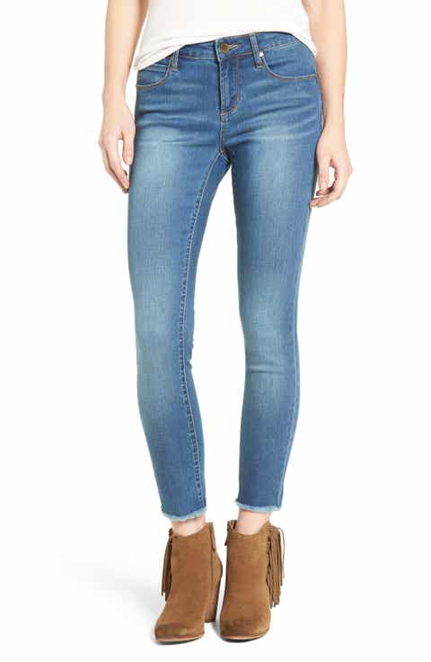 Articles of Society Carly Crop Skinny Jeans - Light Blue Wash Skinny Jeans For Women Nordstrom
