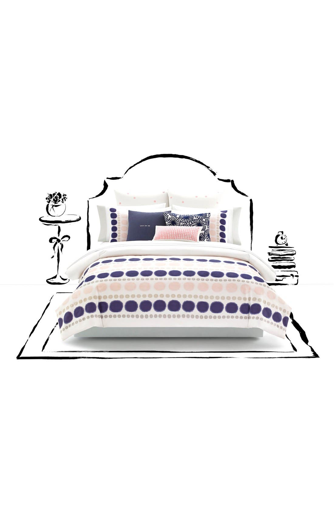 kate spade new york ikat dot duvet cover & sham set