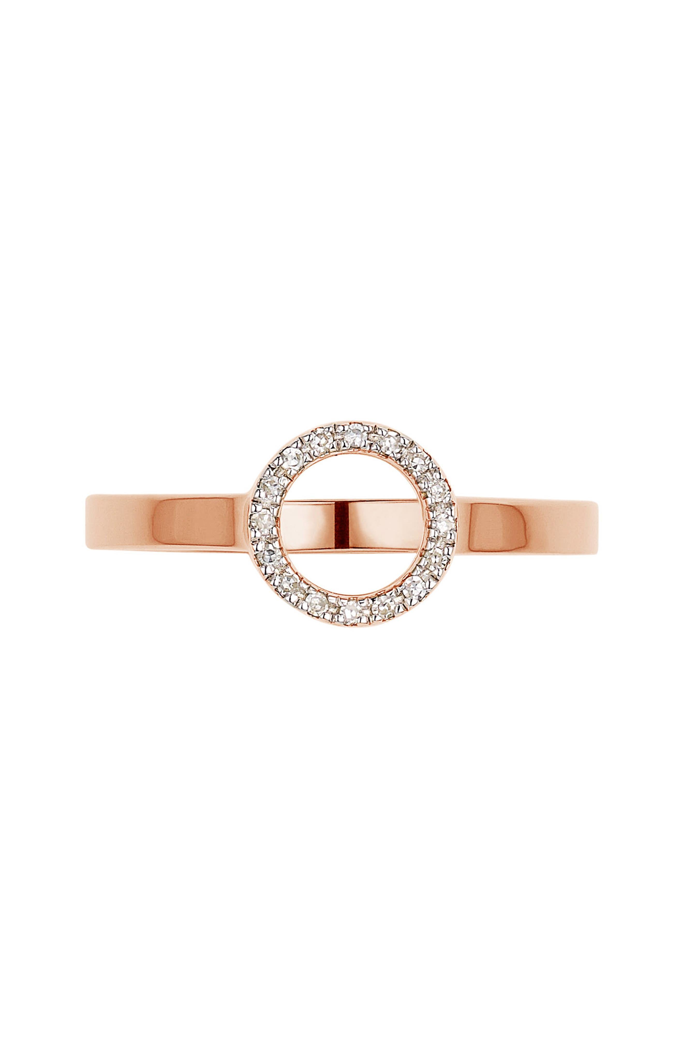 Monica Vinader Naida Diamond Mini Circle Ring