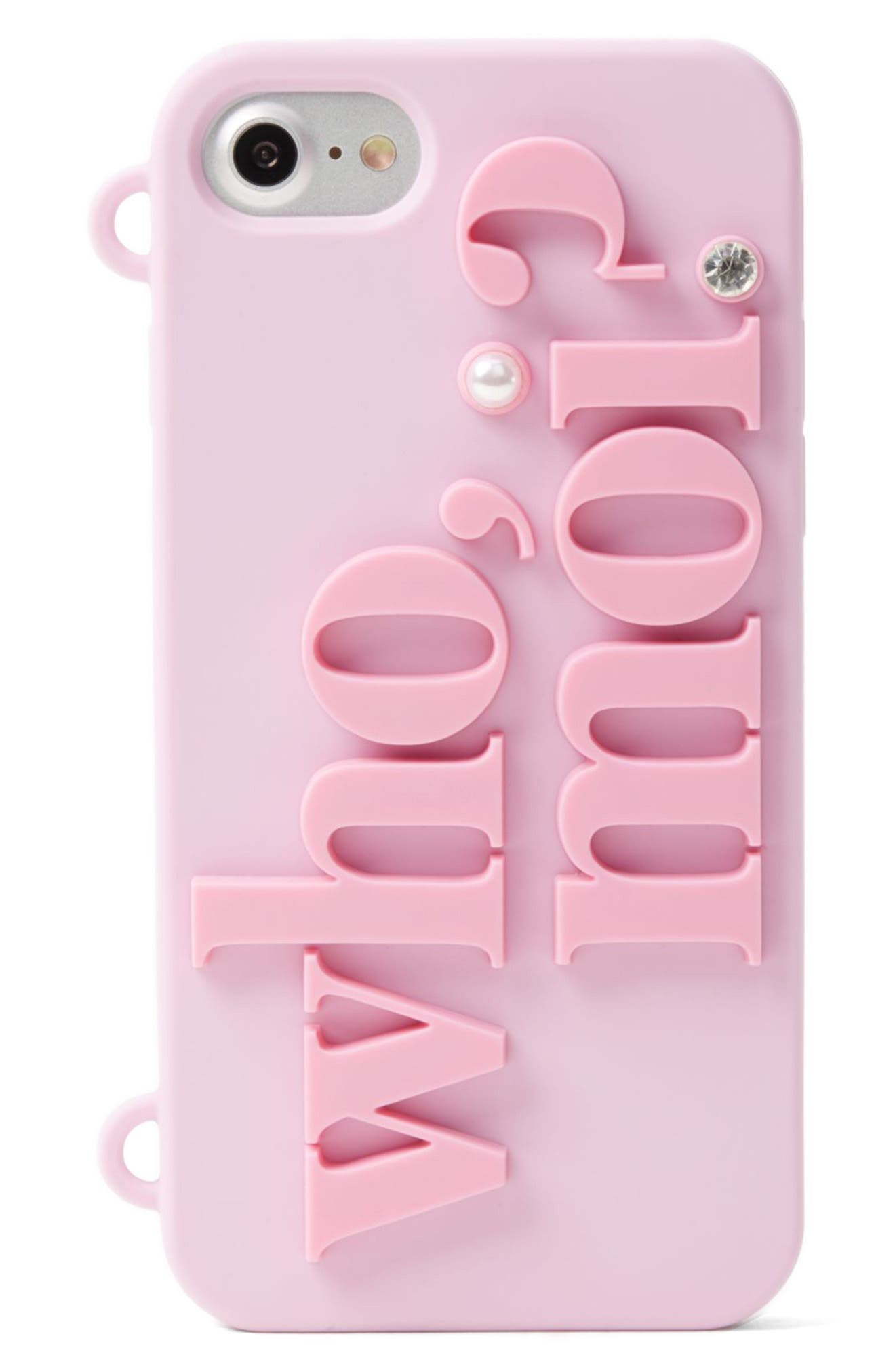 Alternate Image 3  - kate spade new york who moi? miss piggy iPhone 7 case on a chain