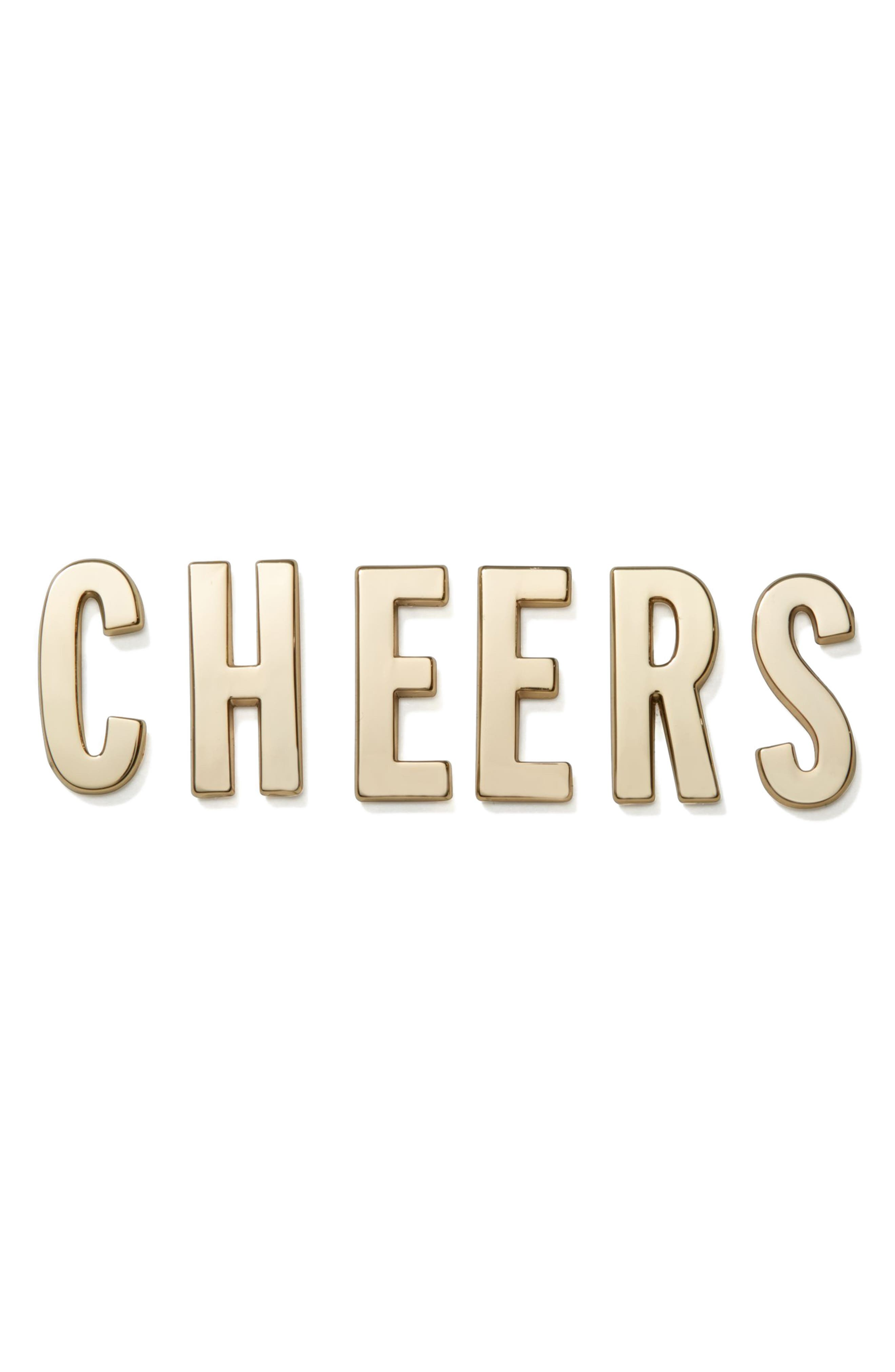 Main Image - kate spade new york cheers 14-karat gold plated stickers