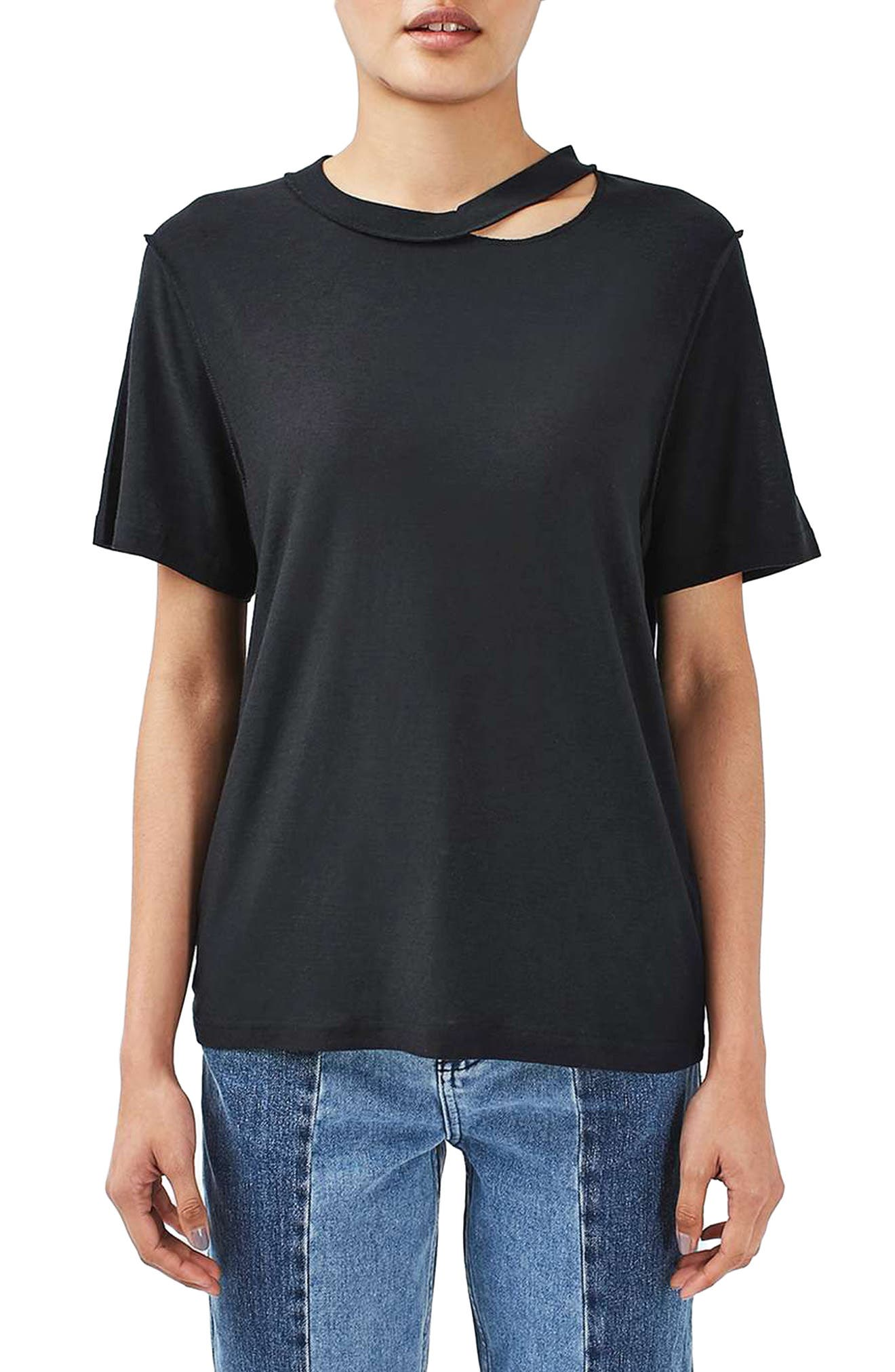 Alternate Image 1 Selected - Topshop Boutique Reverse Seam Tee