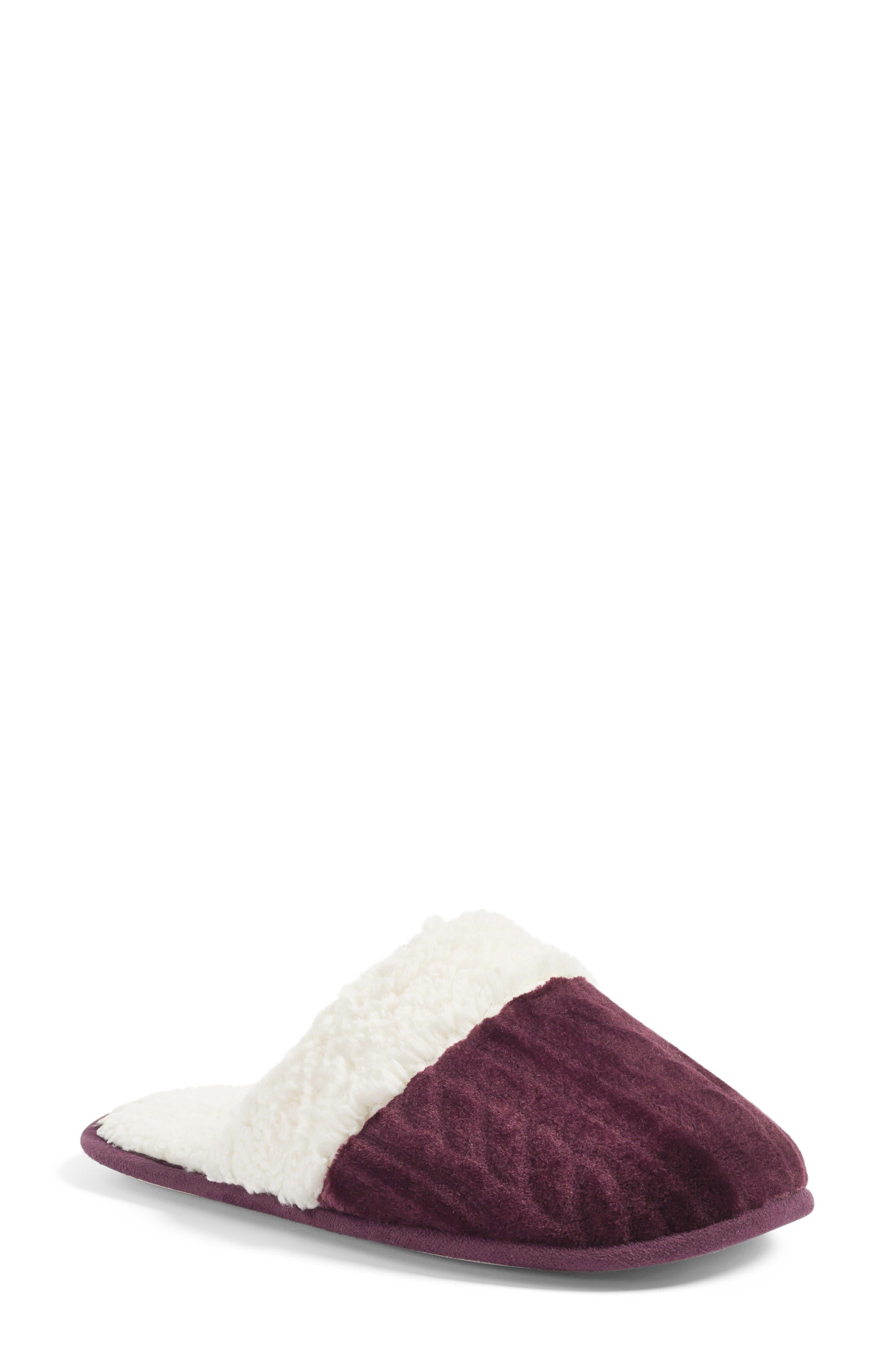 Alternate Image 1 Selected - Nordstrom Plush Scuff Slipper (Women)