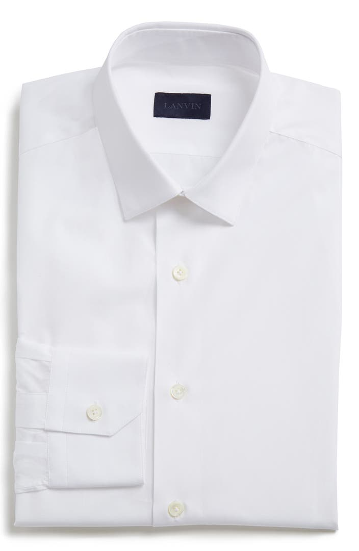 lanvin extra trim fit cotton dress shirt nordstrom