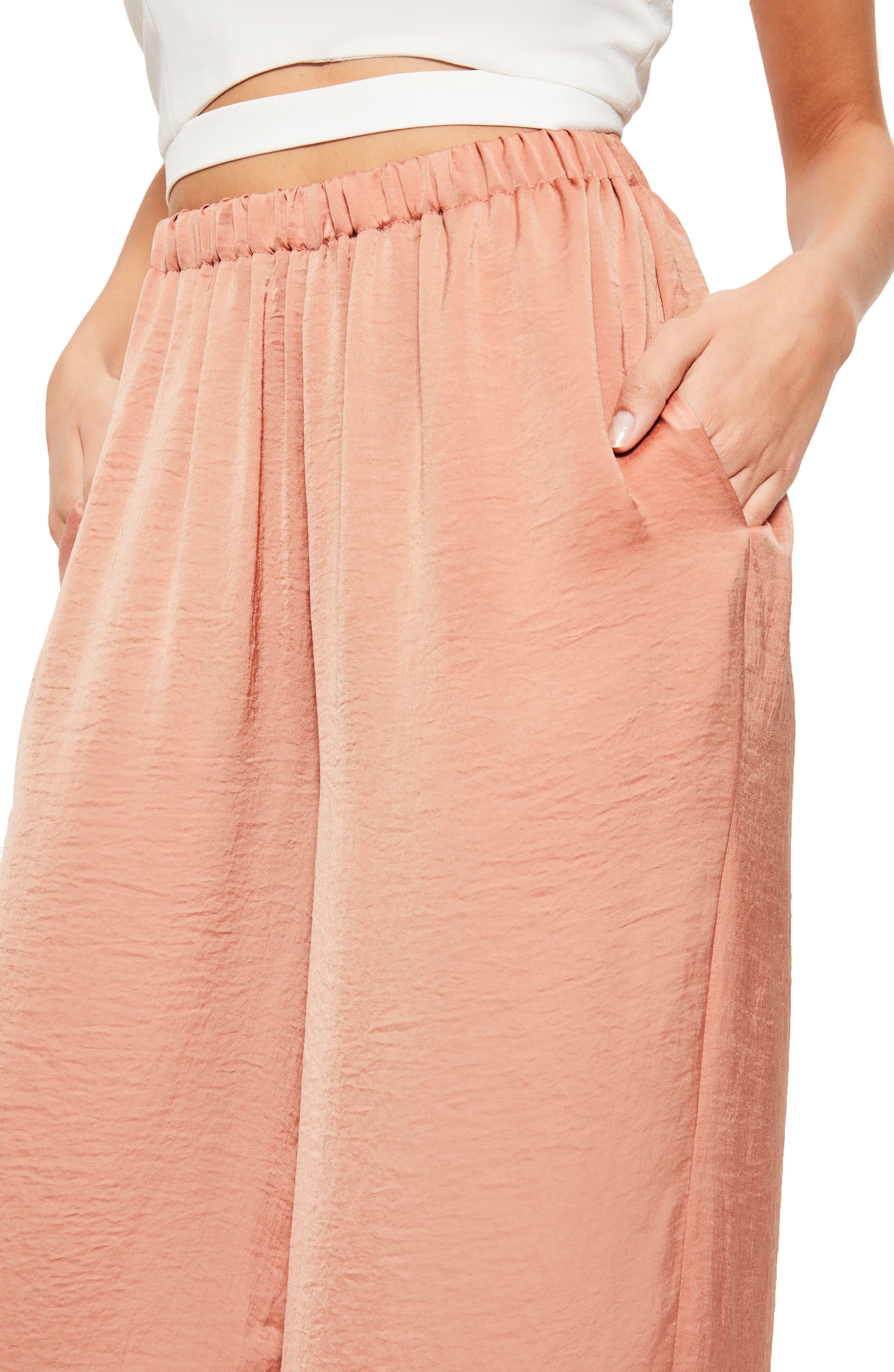 Alternate Image 5  - Missguided Wide Leg Satin Pants
