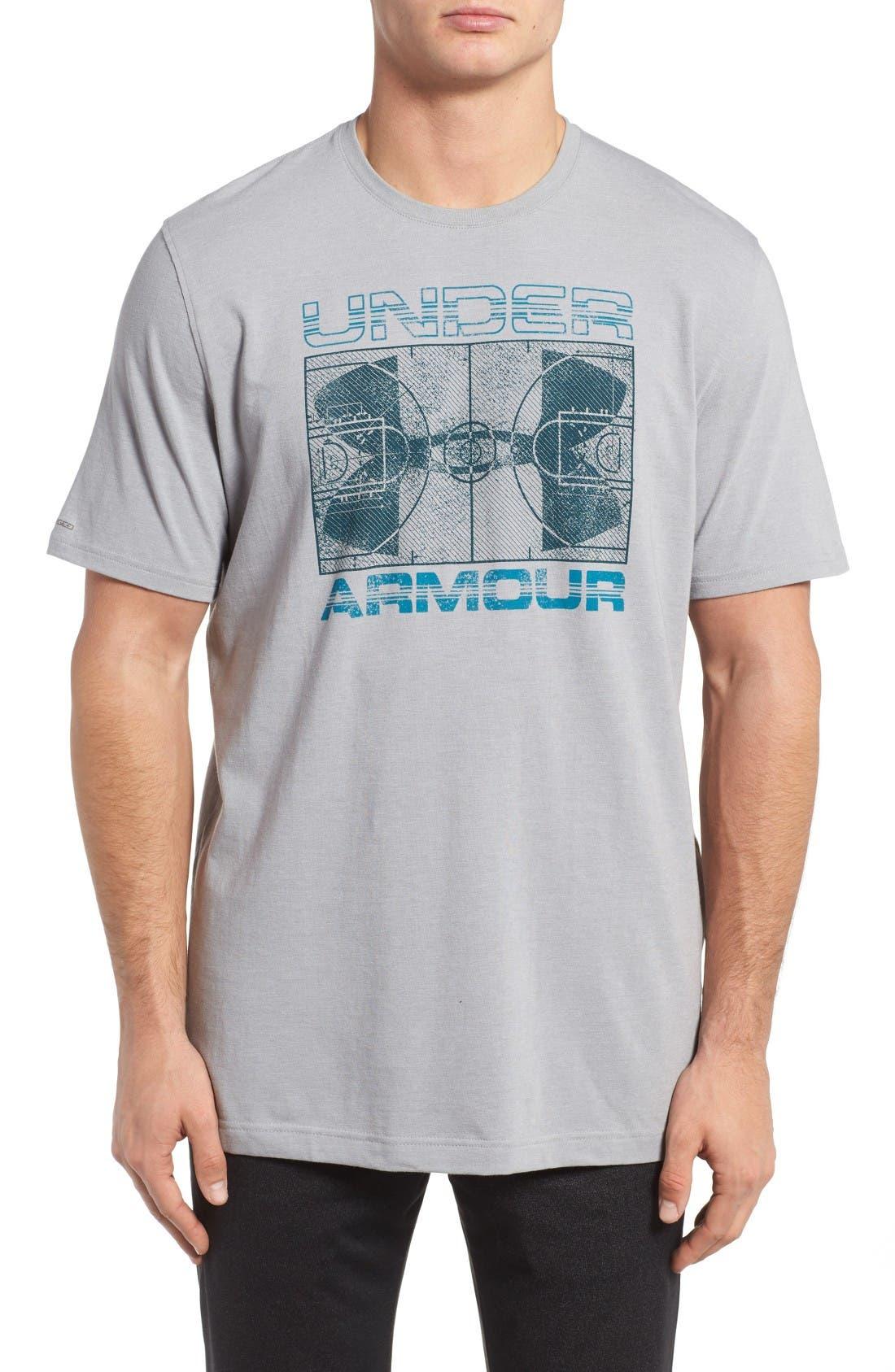 UNDER ARMOUR 'Floorplan Basketball' T-Shirt