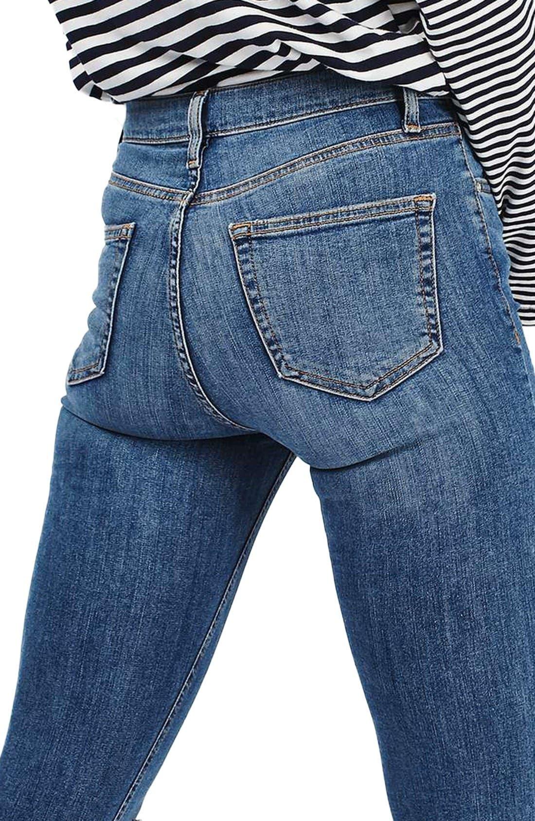 Alternate Image 3  - Topshop Moto Jamie Ripped High Waist Ankle Skinny Jeans