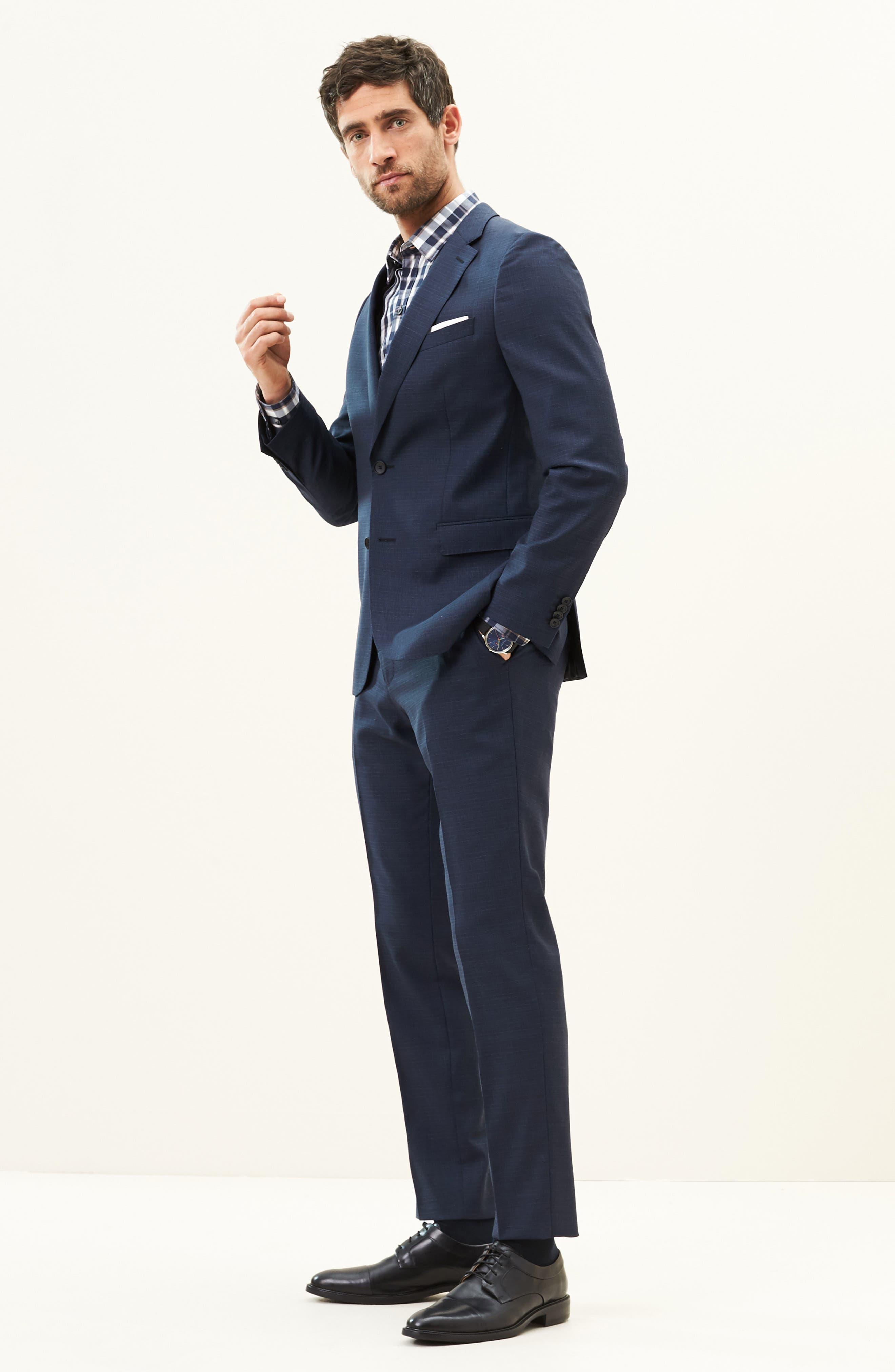 Alternate Image 8  - BOSS Nova/Ben Trim Fit Solid Wool Suit