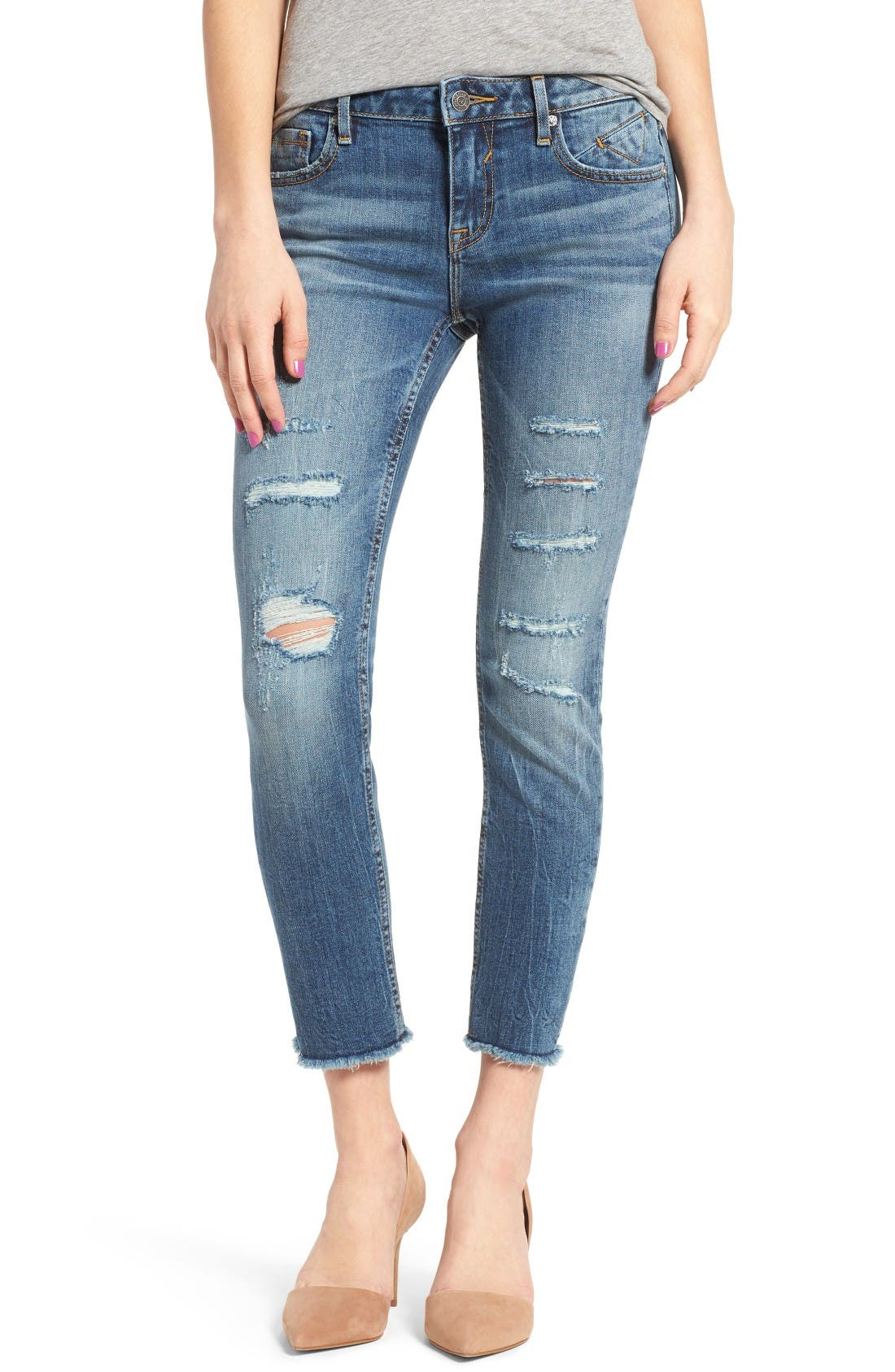 Alternate Image 1 Selected - Vigoss Chelsea Crop Skinny Jeans