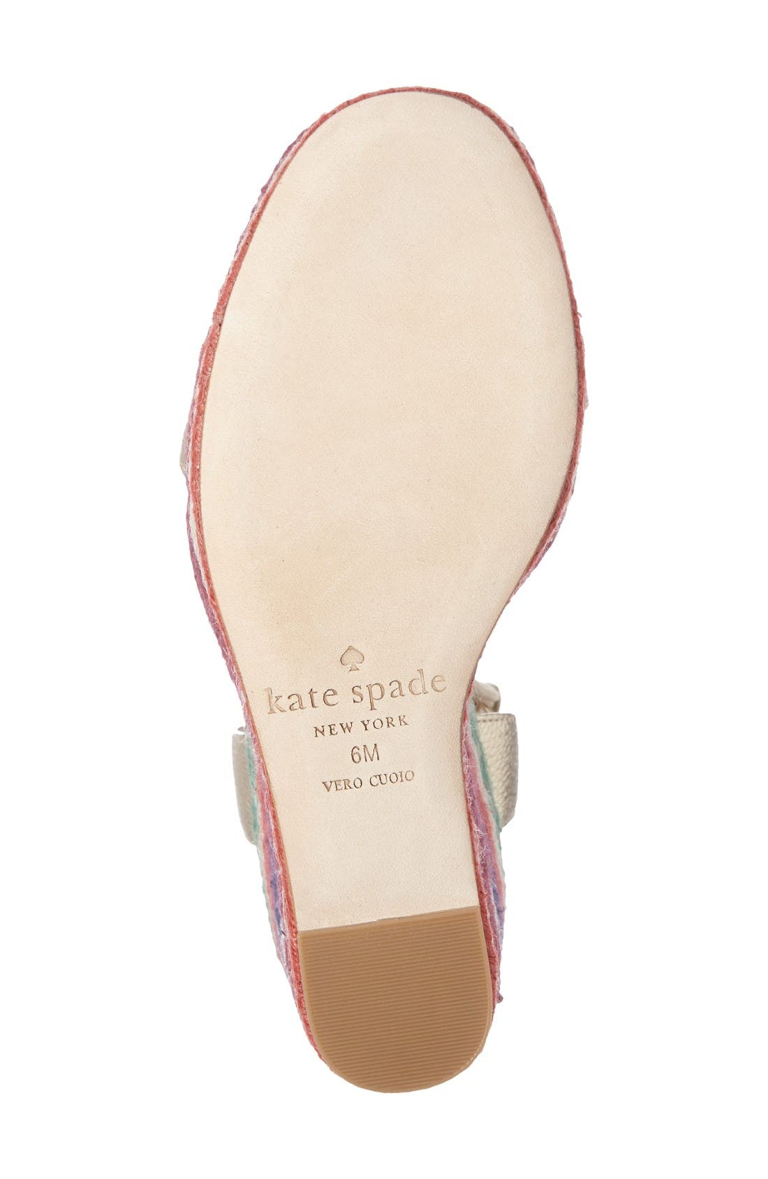 Alternate Image 4  - kate spade new york daisy too platform wedge espadrille (Women)