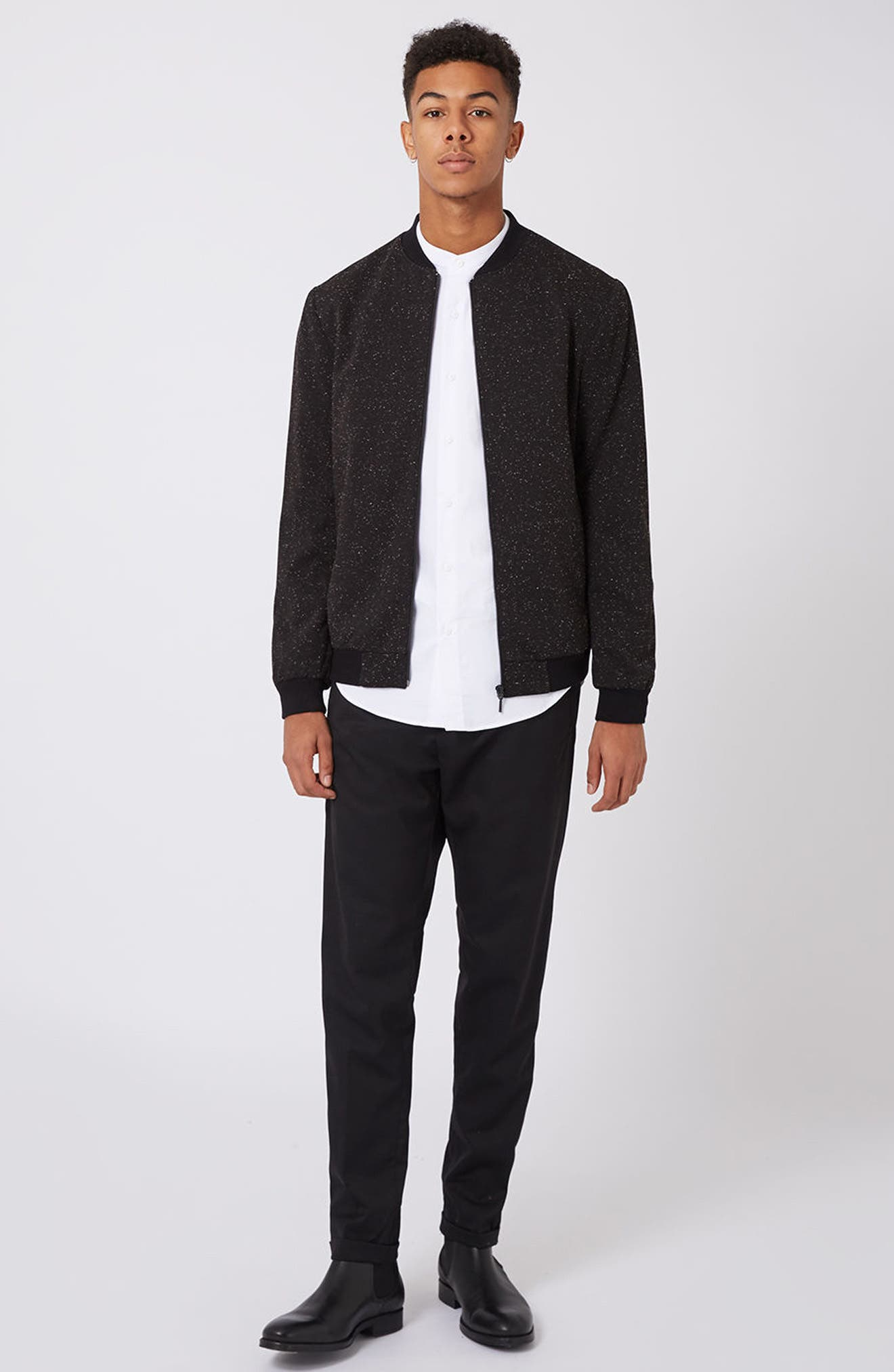 Alternate Image 2  - Topman Nep Flecked Bomber Jacket