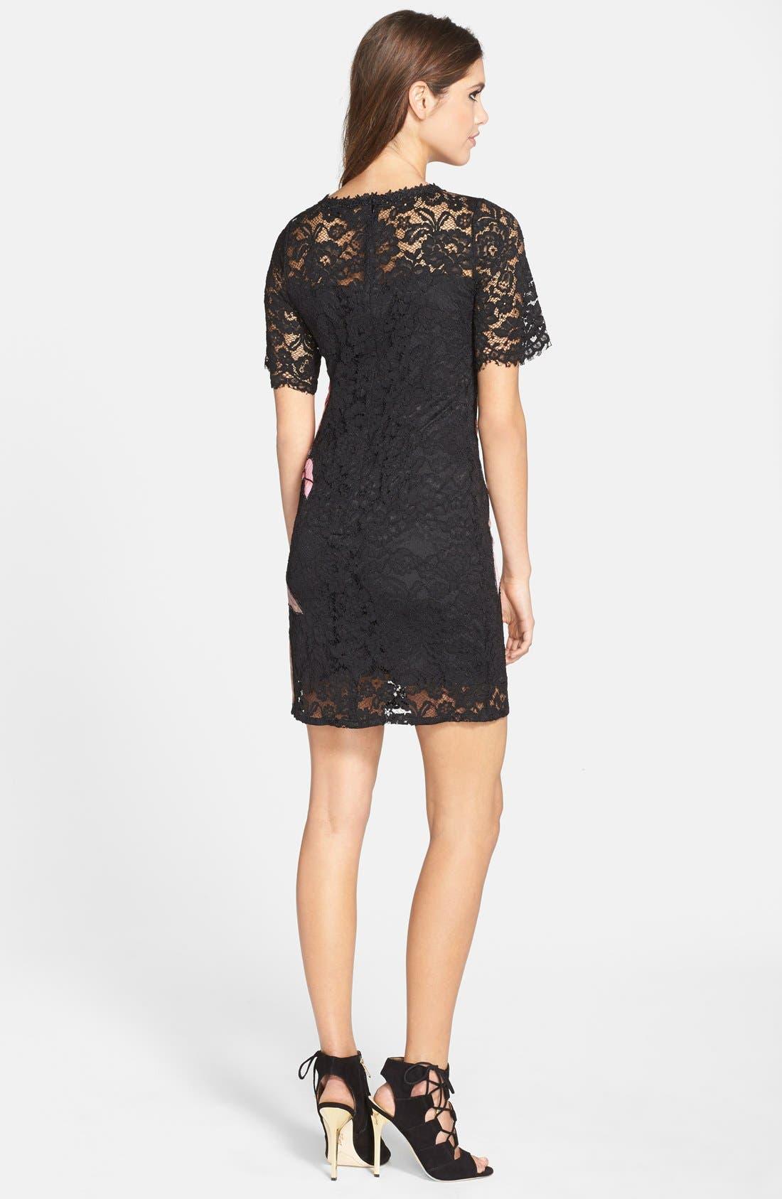 Alternate Image 2  - Elliatt 'Instinct' Floral Appliqué Lace Shift Dress