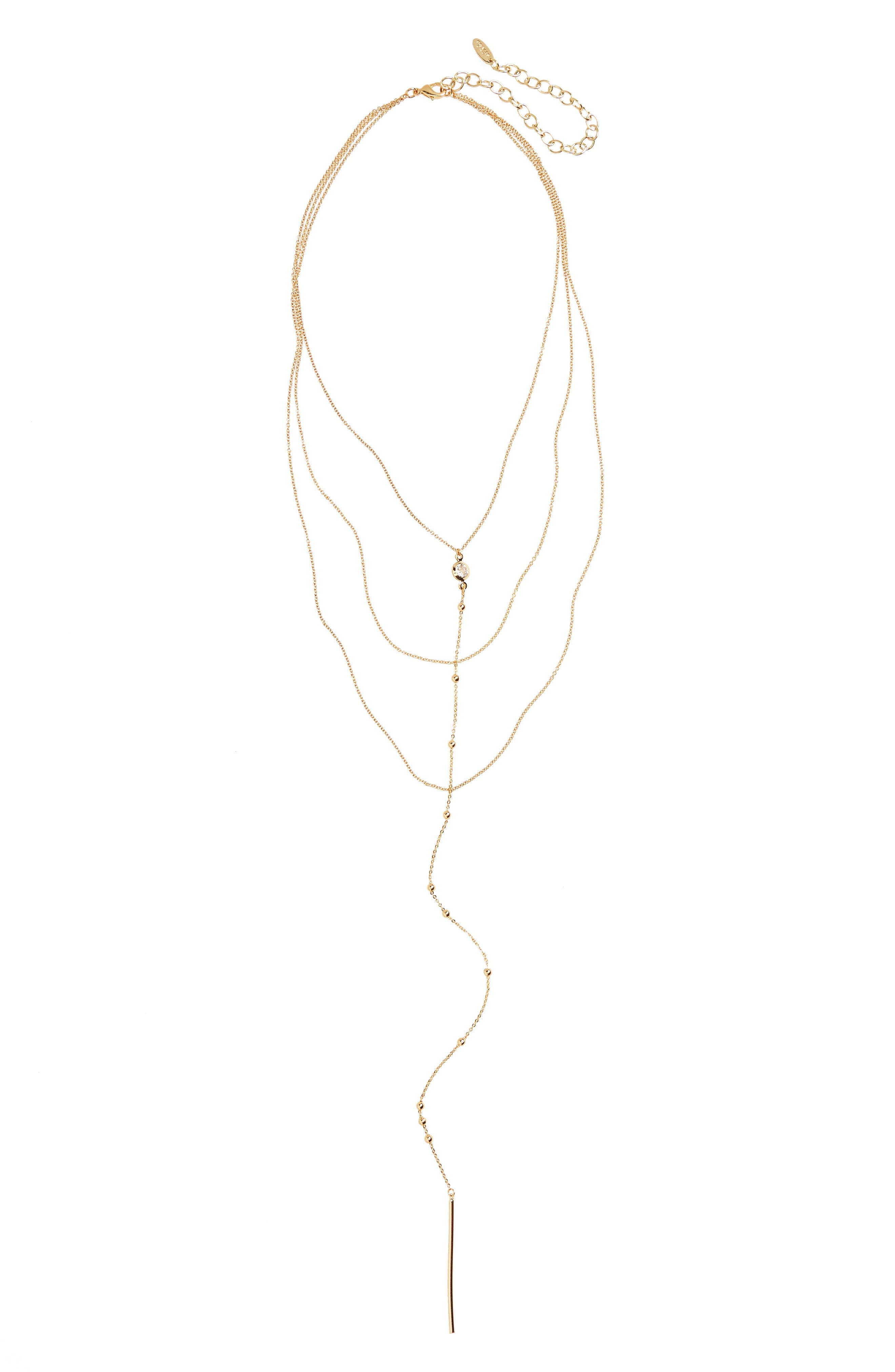Ettika Tier Lariat Necklace