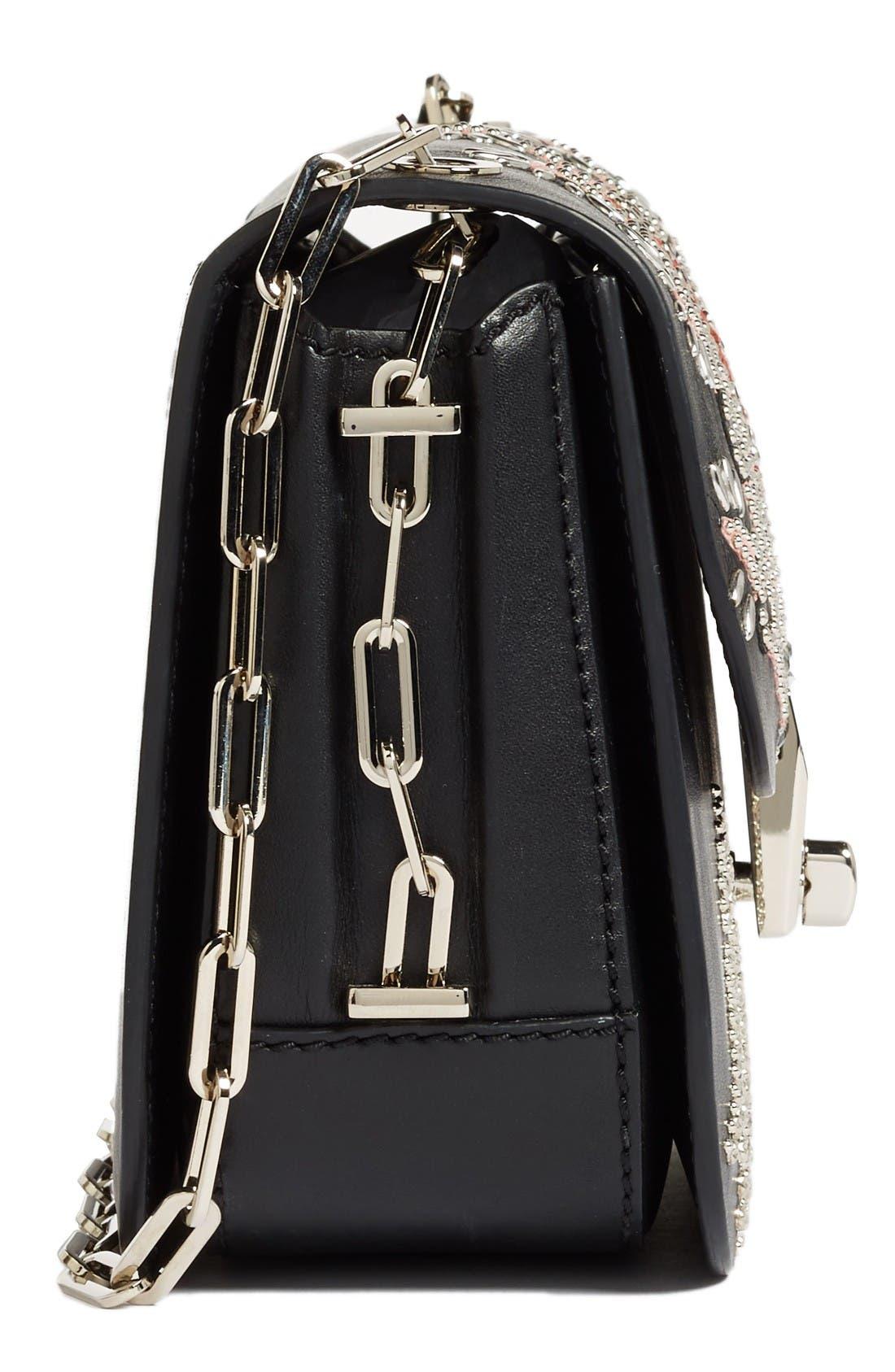 Alternate Image 4  - Valentino Love Blade Embroidered Calfskin Leather Shoulder Bag