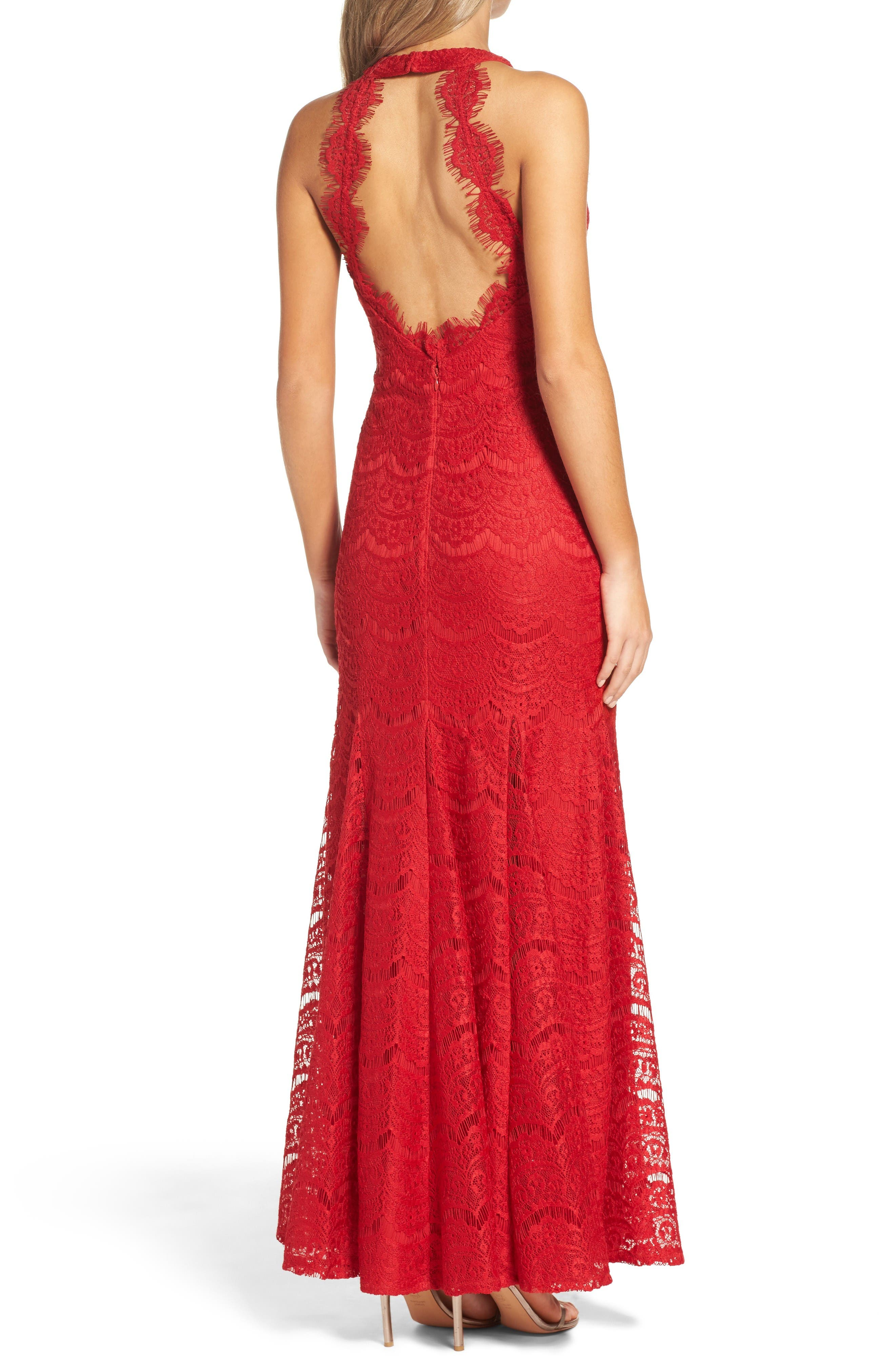 Alternate Image 2  - Morgan & Co. Open Back Gown