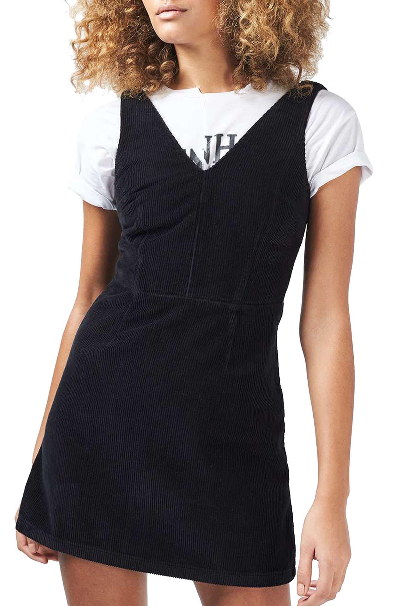Alternate Image 1 Selected - Topshop Corduroy Dress