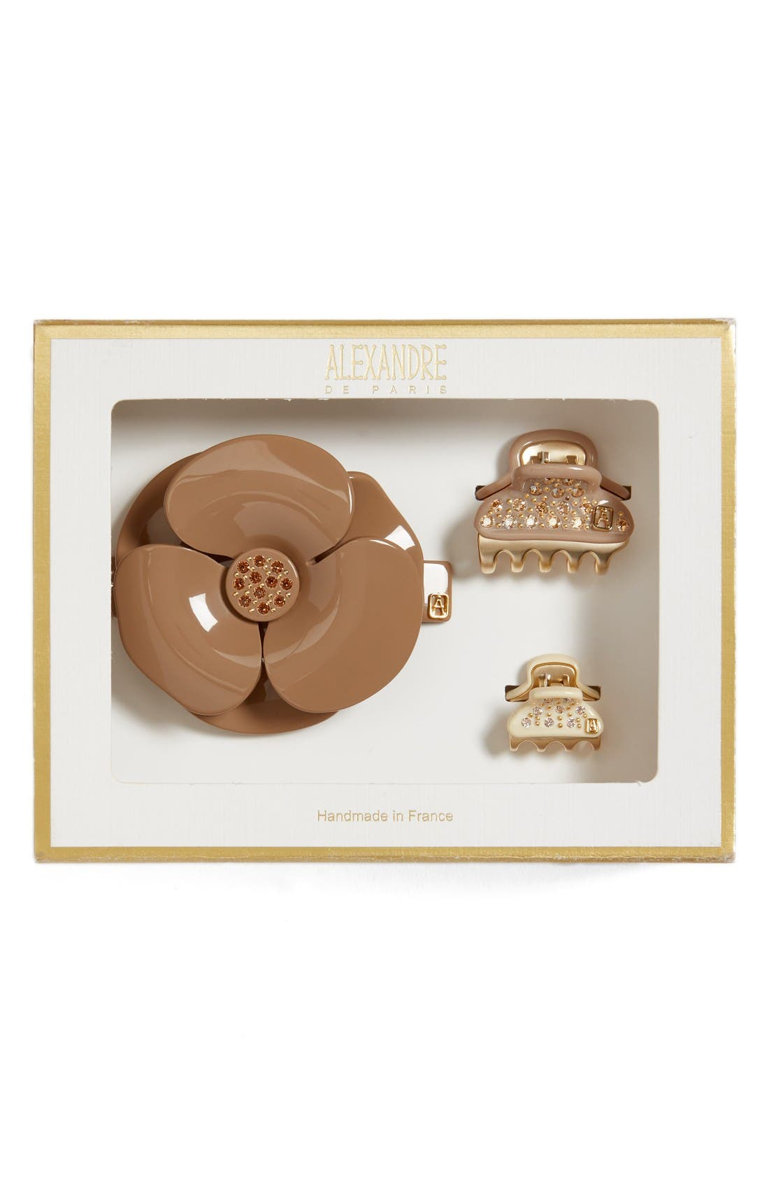ALEXANDRE DE PARIS Camelia Barrette & Mini Clips