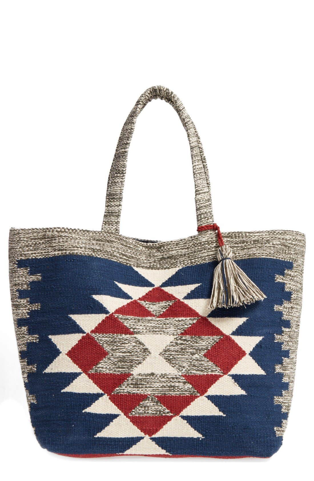 Alternate Image 1 Selected - Sole Society Rees Woven Geometric Tote