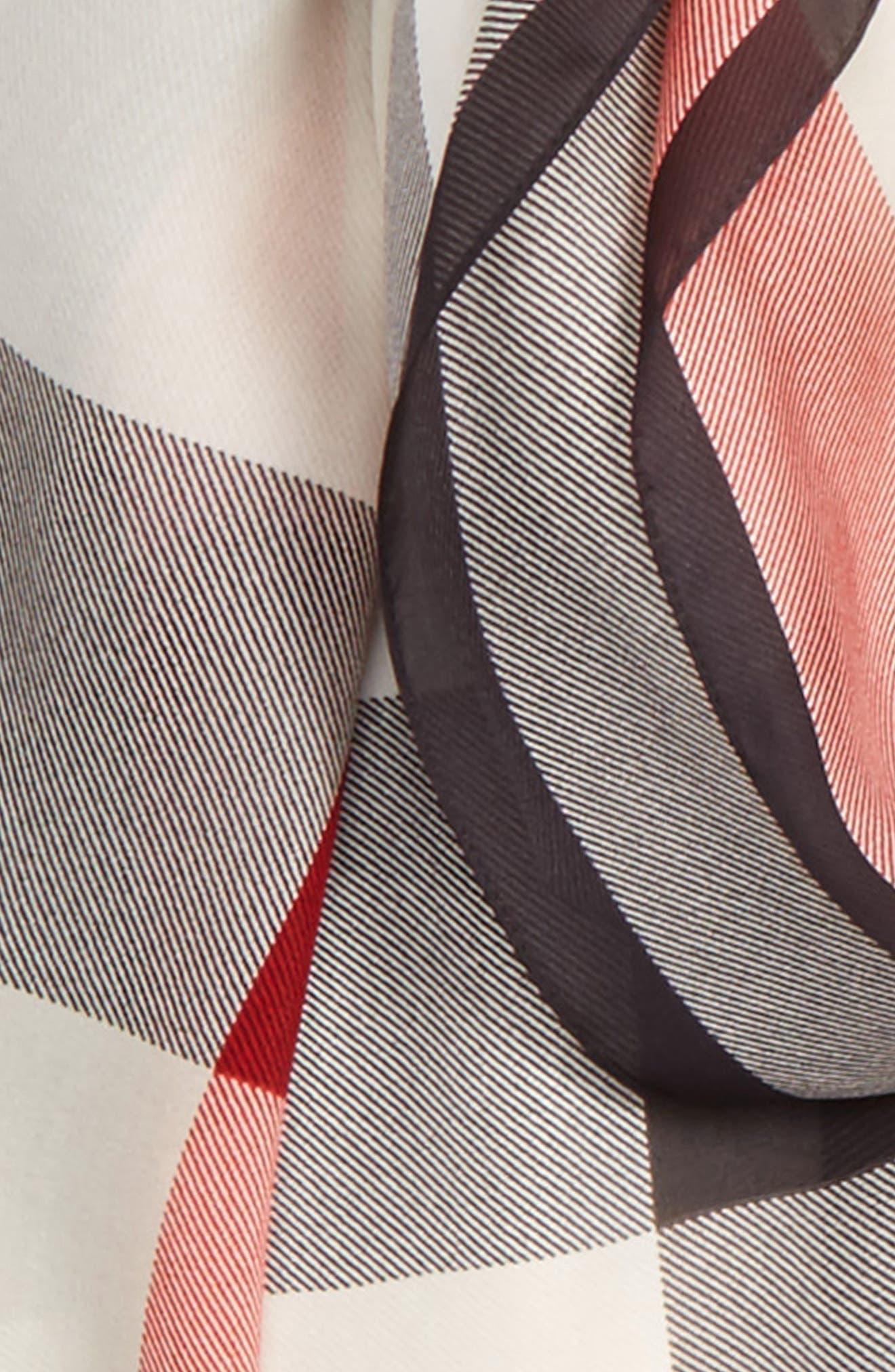 Alternate Image 3  - Burberry Mega Check Silk Scarf